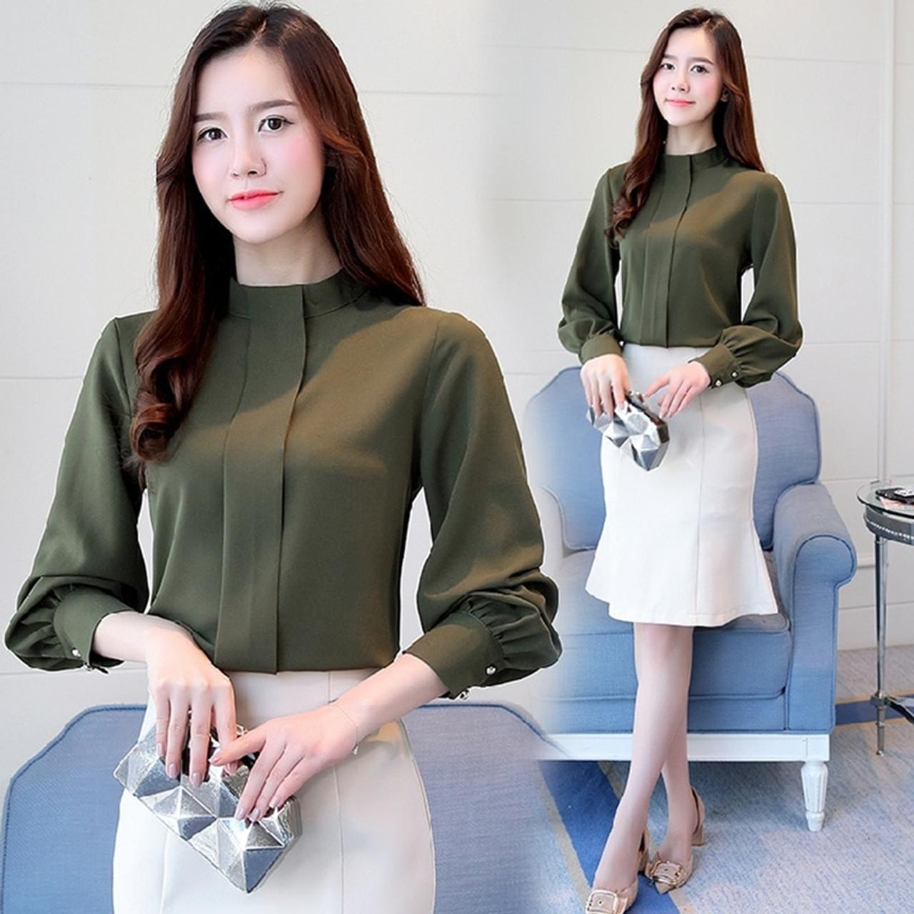New Autumn Women Blouse Long Sleeve