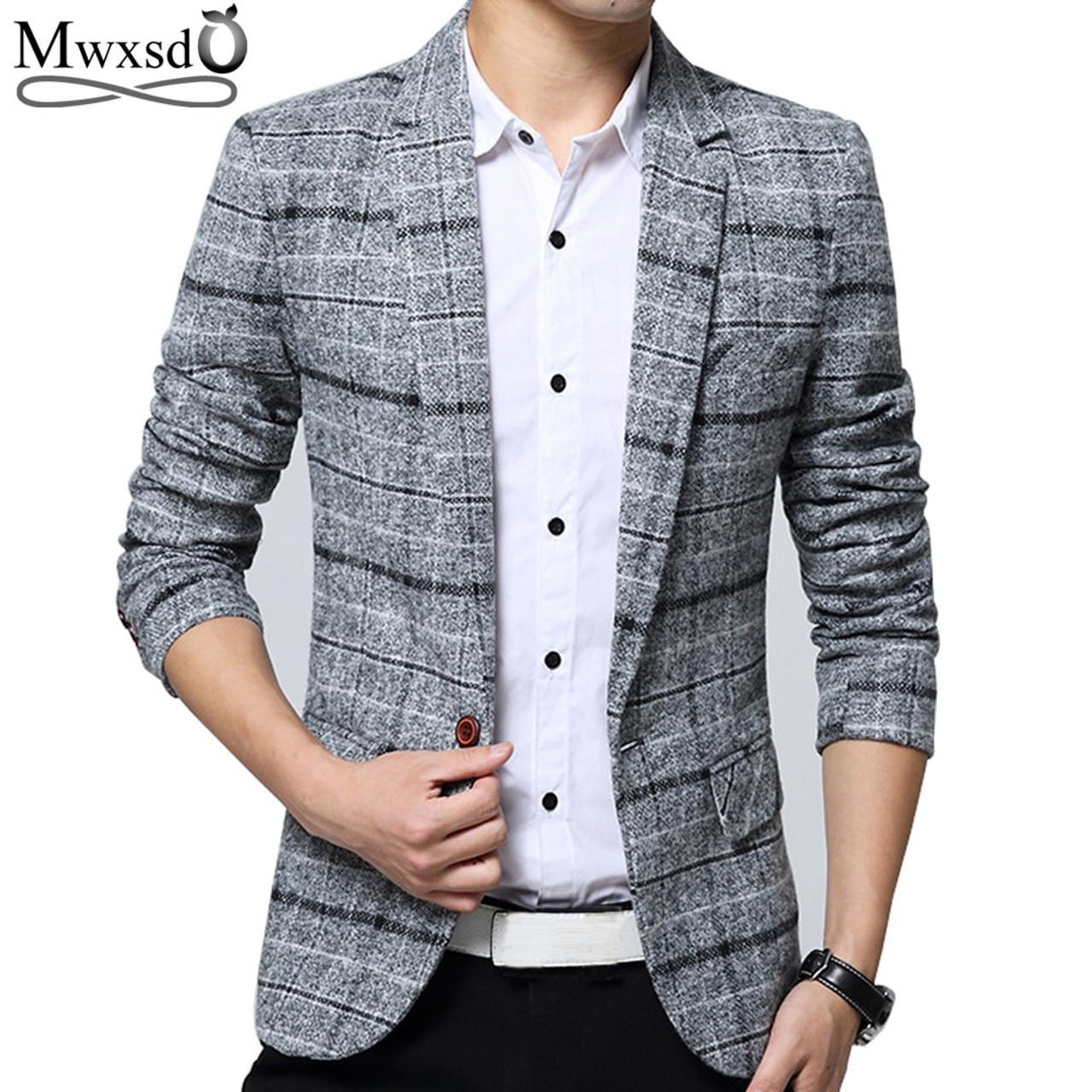 7d903891f44010 ... Mwxsd brand Quality Autumn Suit Blazer Men Fashion Slim Male Suits  Casual Suit Jacket Masculine Blazer ...