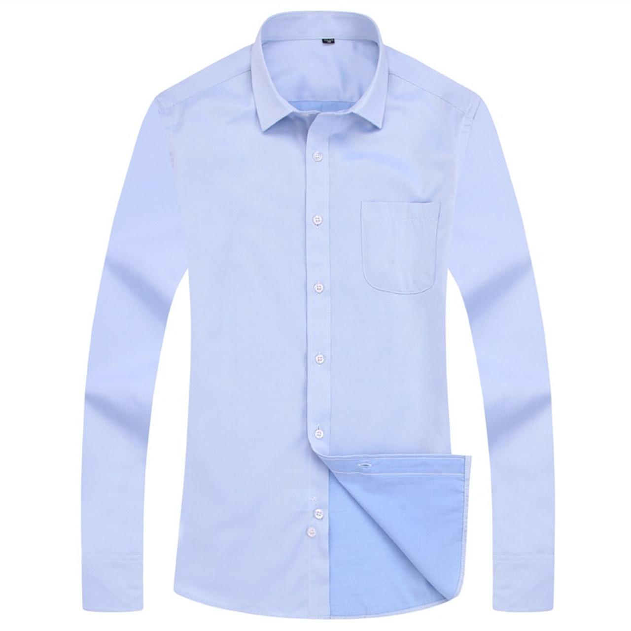 507c04295f2d9 4XL 5XL 6XL 7XL 8XL Large Size Men's Business Casual Long Sleeved Shirt  White Blue Black Smart Male Social Dress Shirt Plus
