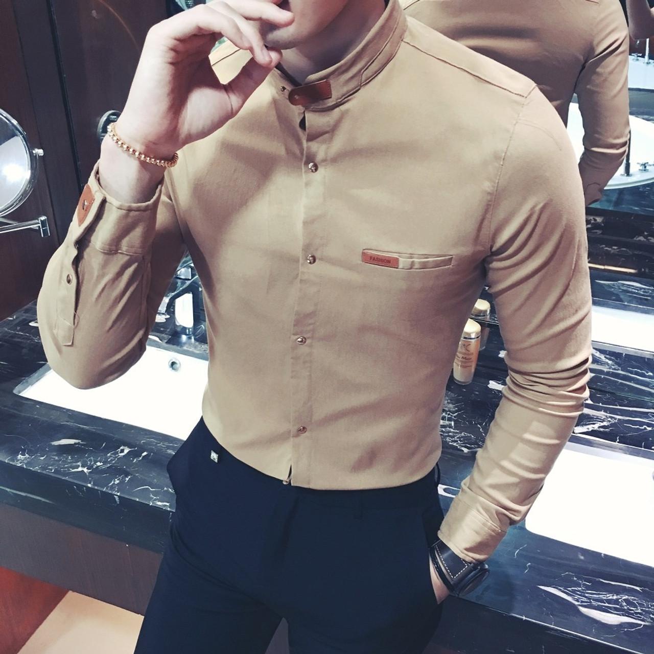 Jcchenfs 2018 New Fashion Brand Men Business Long Sleeved Shirt