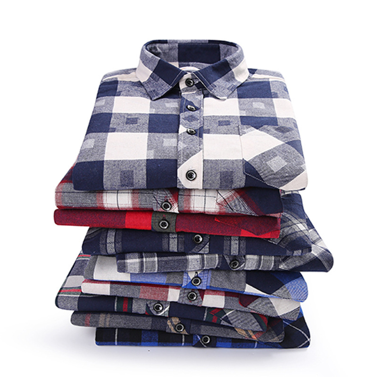 9afb060f7db Men s Shirt 2019 Spring Autumn New Male Long Sleeve Flannel Plaid Shirt  Brand Men Office Style Business Casual Shirts Plus Size - OnshopDeals.Com