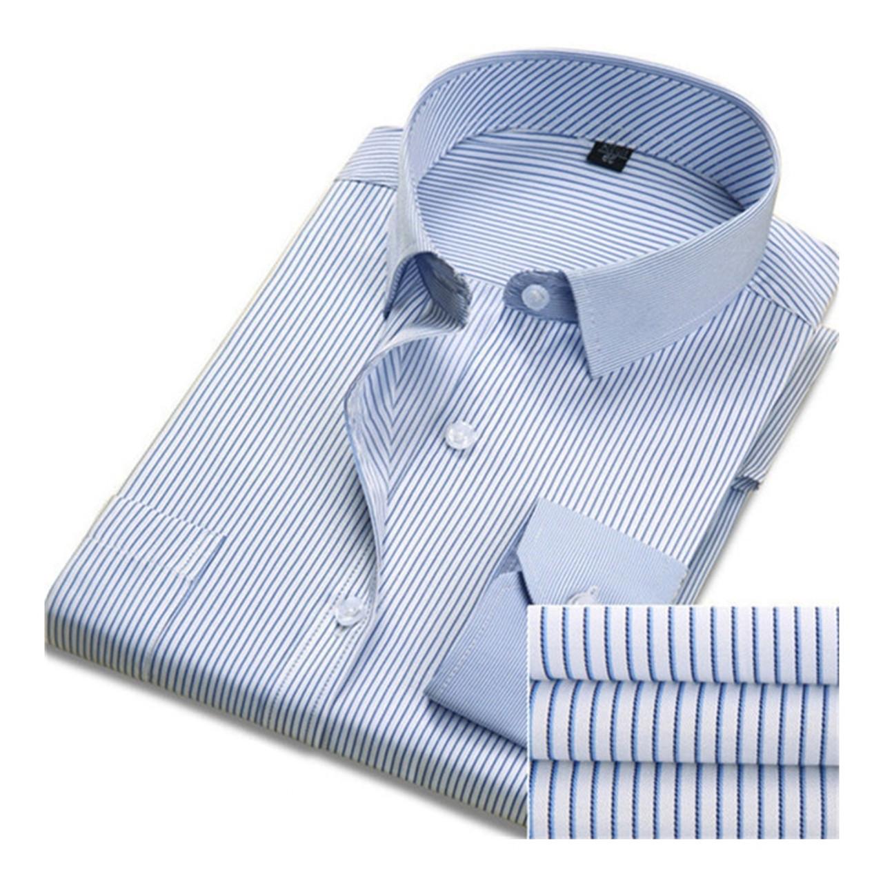 2080775a41e7b DAVYDAISY Hot Sale Men Shirt Long Sleeved Fashion Solid Striped Male Formal  Business Shirts Brand Clothing Dress Shirt Man DS016