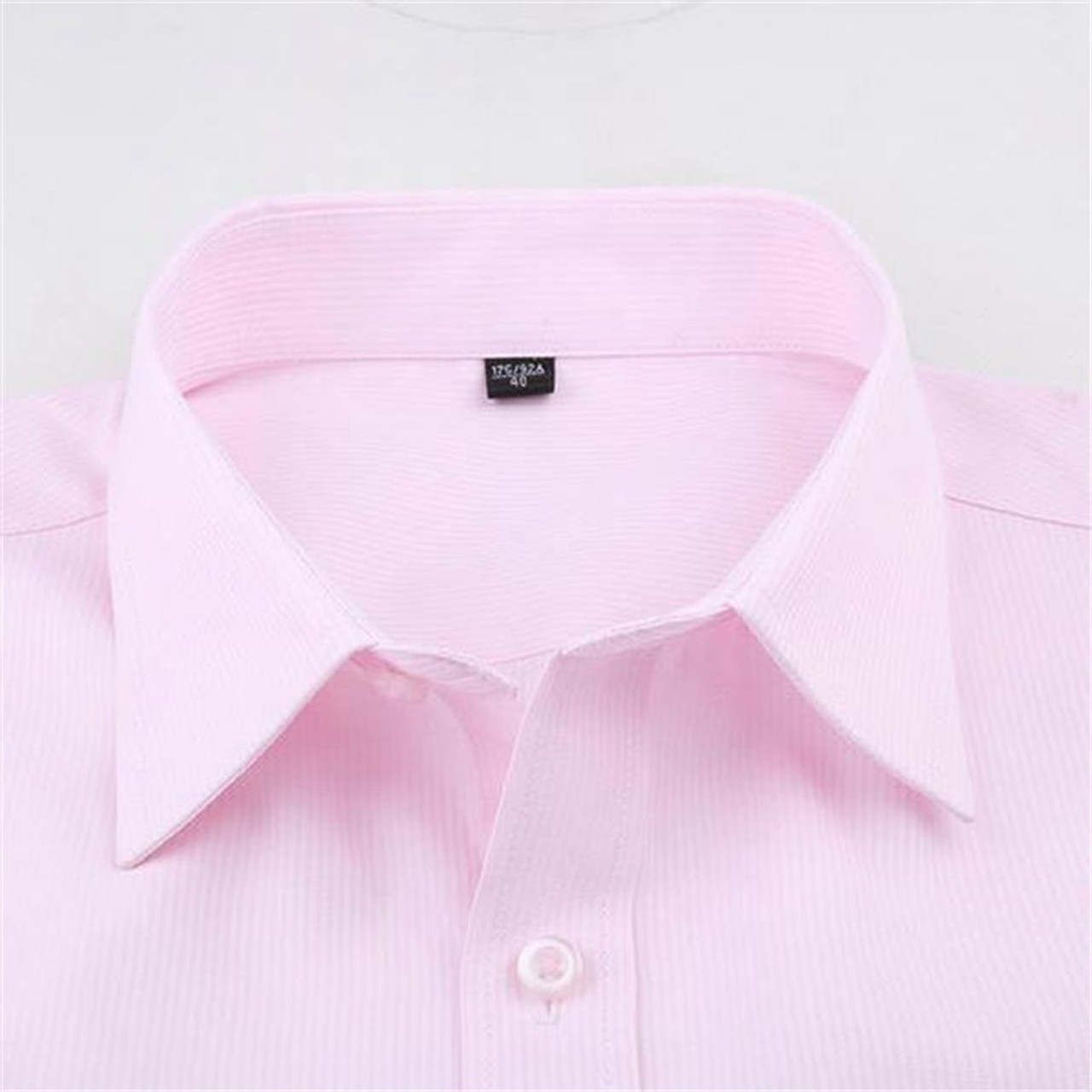 482836667ba ... 2018 Classic Solid Color Men s Shirt Long Sleeve Formal Business Shirts  Men Slim Fit Wedding Shirt ...