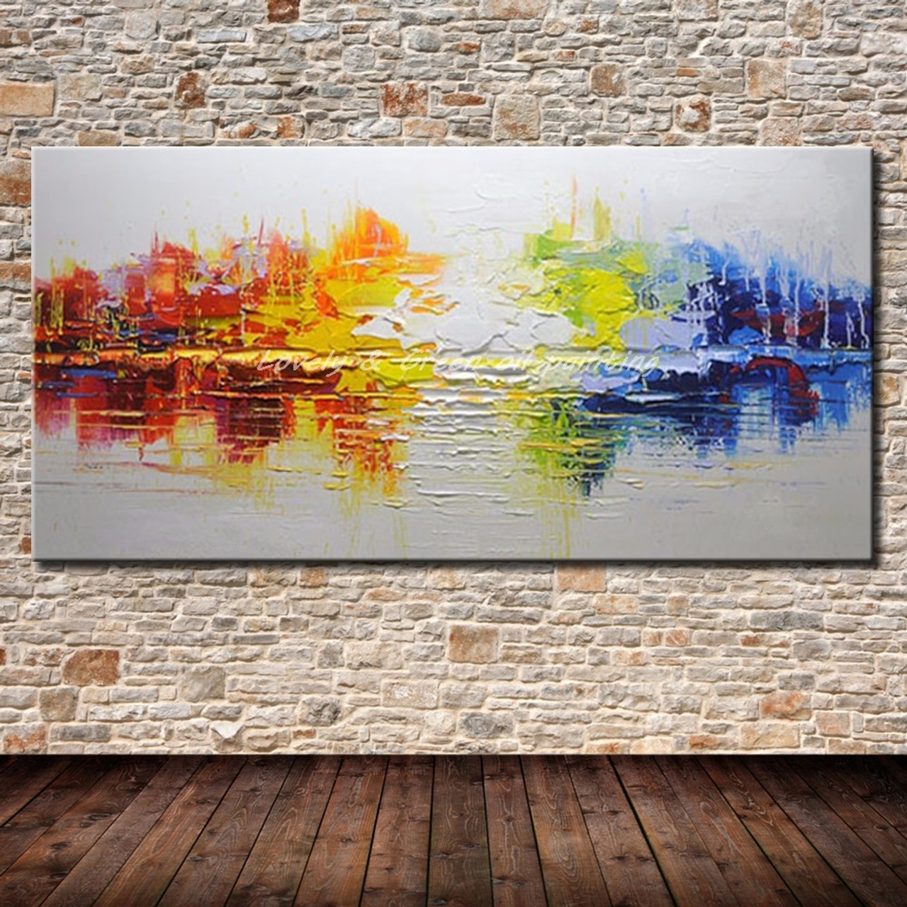Hand painted canvas oil paintings modern abstract oil painting on canvas wall art pictures for living room hotal decor best gift