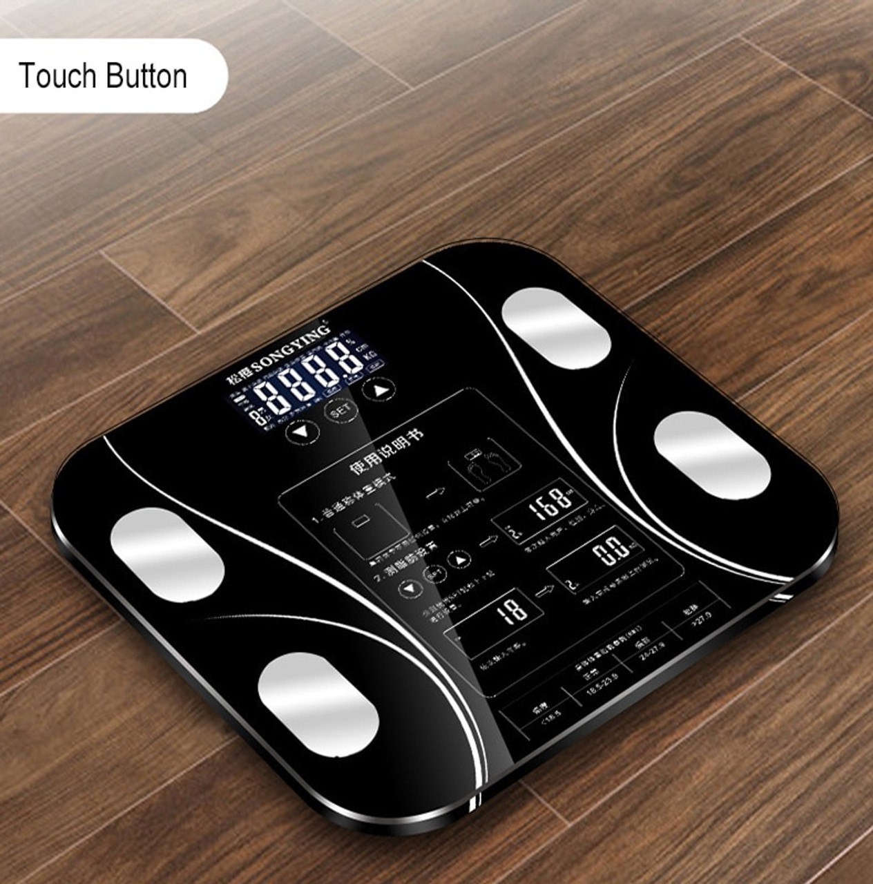 1ff9640f816a Hot 13 Body Index Electronic Smart Weighing Scales Bathroom Body Fat bmi  Scale Digital Human Weight Mi Scales Floor lcd display