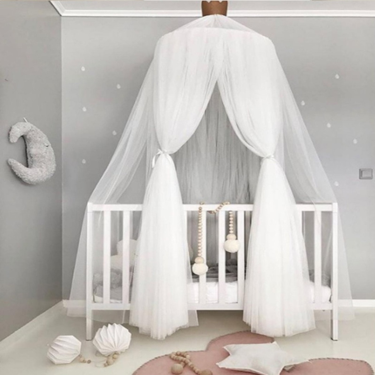 Kid Baby Princess Bed Cot Canopy Bedcover Mosquito Net Curtain Bedding Dome Tent Home Furniture Diy Canopies Netting Home Furniture Diy Canopies Netting