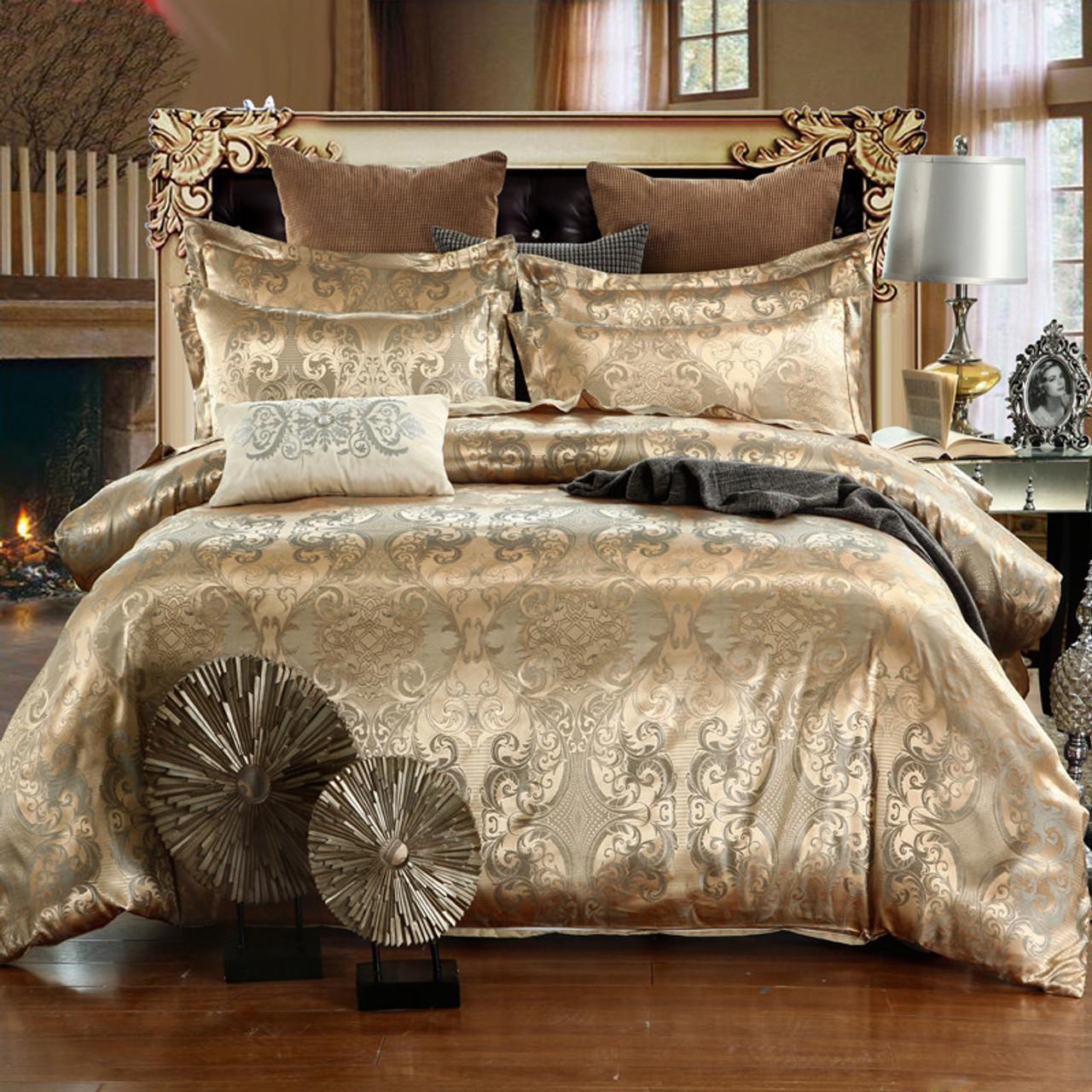 Luxury Bedding Sets Jacquard Queen King Size Duvet Cover Set Wedding Bedclothes Bed Linen Quilt Cover Onshopdeals Com