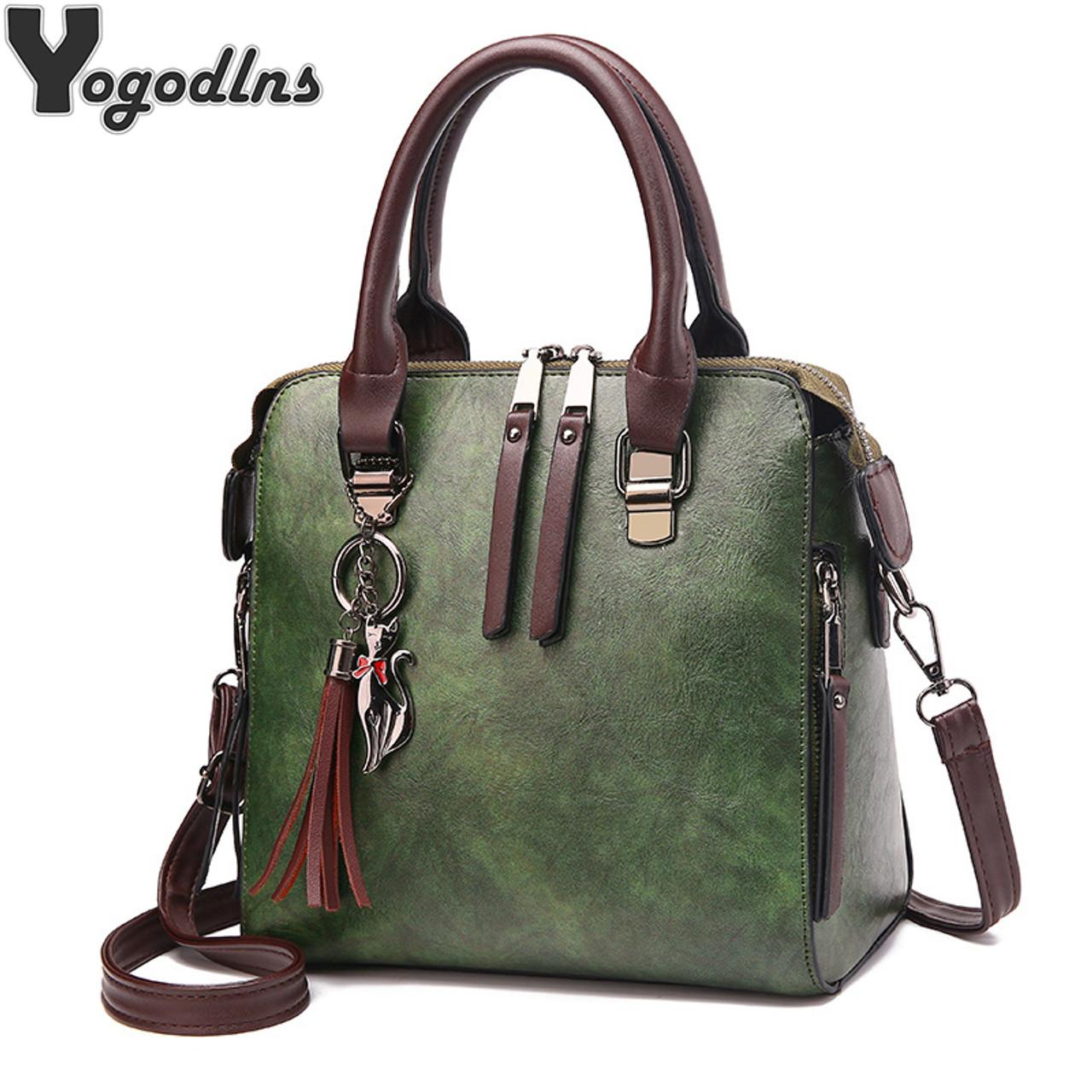 Vintage Leather Ladies HandBags Women Messenger Bags TotesTassel Designer  Crossbody Shoulder Bag Boston Hand Bags Hot Sale - OnshopDeals.Com fe08279591d02