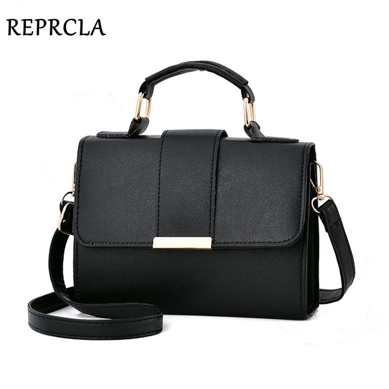 3eece79fd7 REPRCLA 2018 Summer Fashion Women Bag Leather Handbags PU Shoulder Bag  Small Flap Crossbody Bags for ...