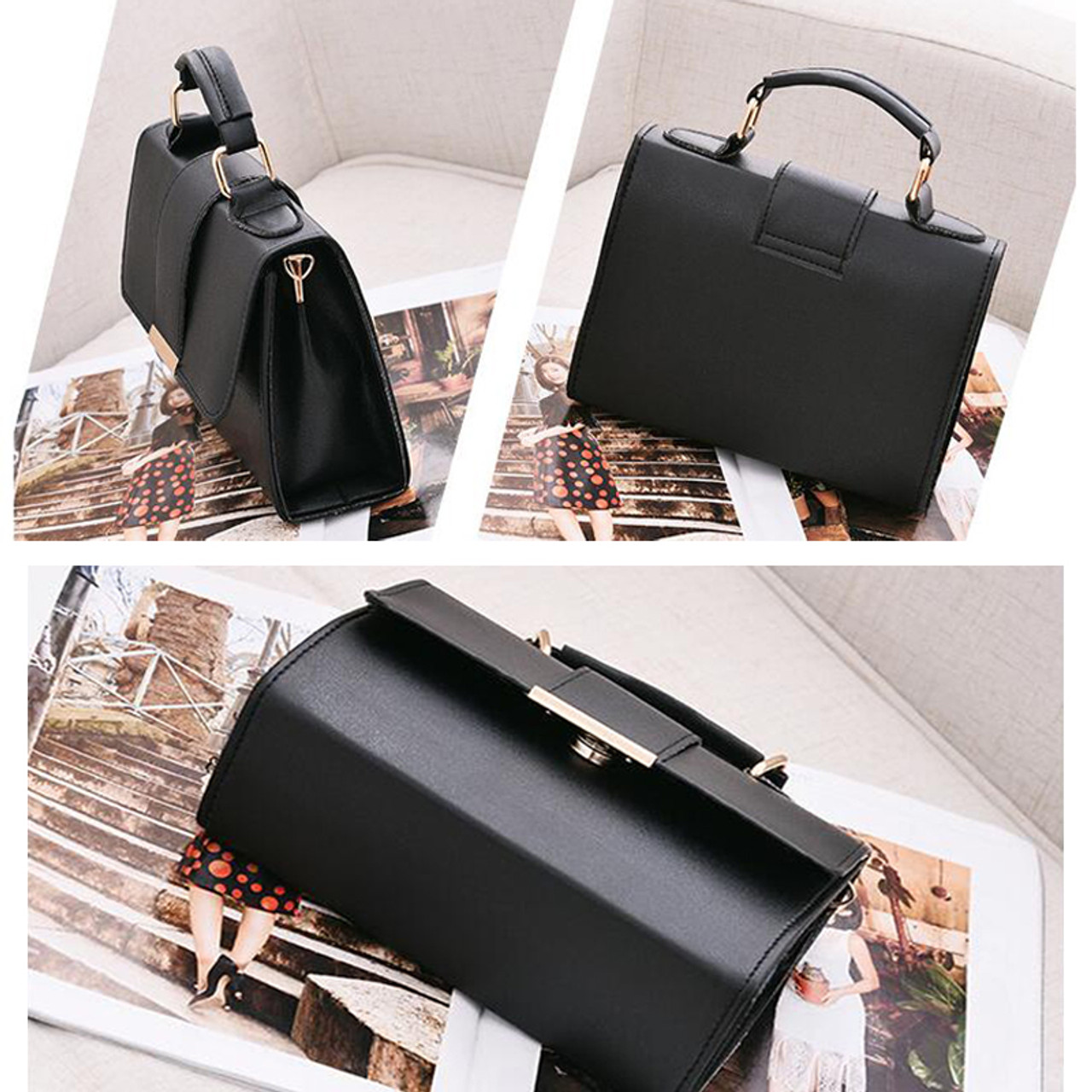 e787cd069dc91 ... REPRCLA 2018 Summer Fashion Women Bag Leather Handbags PU Shoulder Bag  Small Flap Crossbody Bags for ...