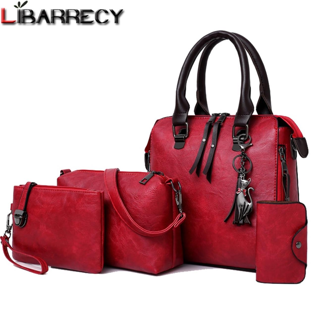 92da49b4cd53 Luxury Brand 4 Psc set Women s Handbags Large Capacity Women Bag Ladies Leather  Tote Fashion Shoulder Bags for Women 2018 Wallet - OnshopDeals.Com