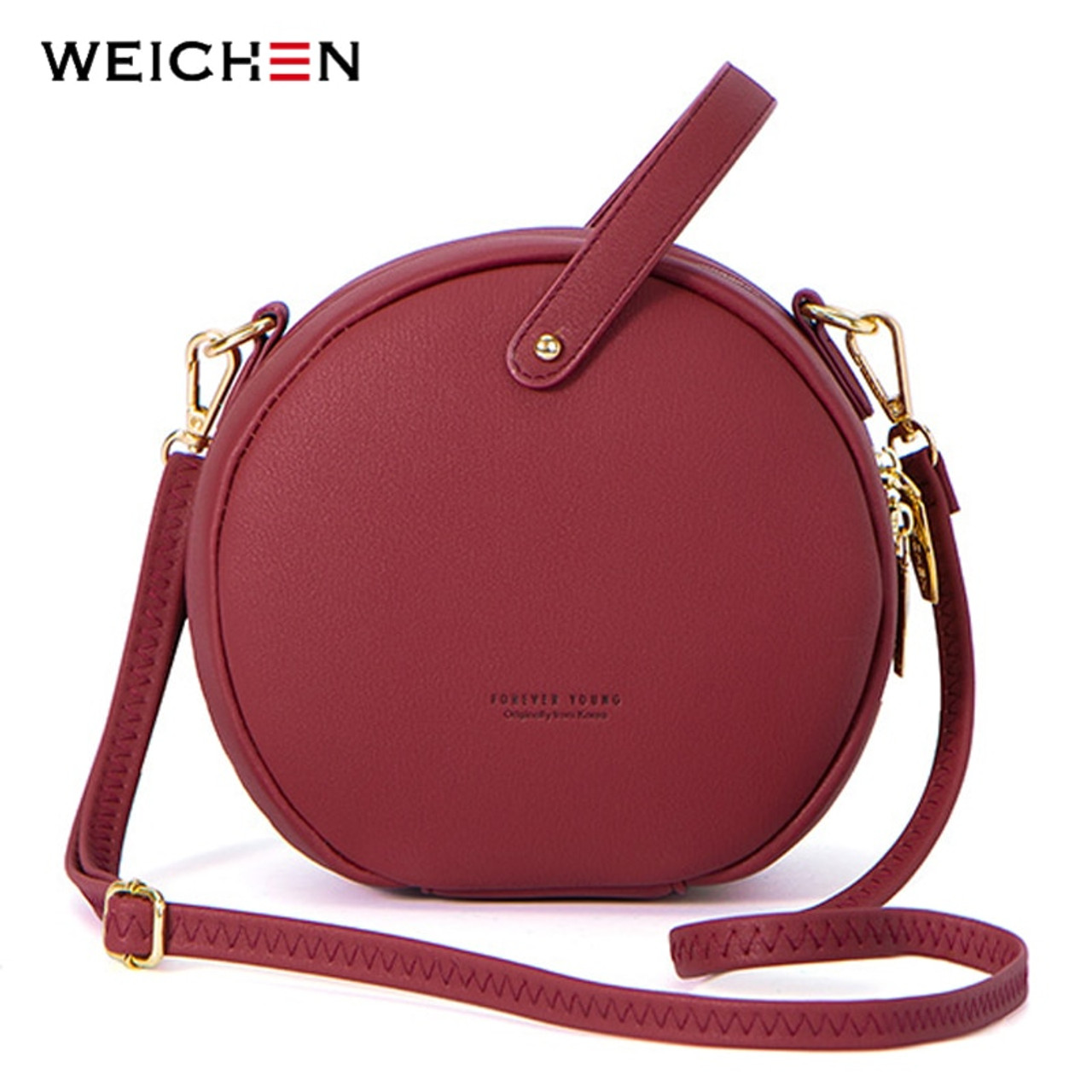 9dfa22d6bd98b HOT Circular Design Fashion Women Shoulder Bag Leather Women's Crossbody  Messenger Bags Ladies Purse Female Round Bolsa Handbag - OnshopDeals.Com