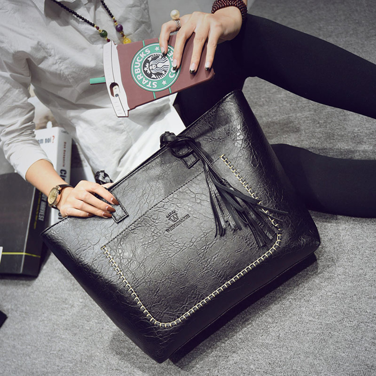 fa73ac86 ... KMFFLY Women Messenger Bags Large Capacity Women Bags Shoulder Tote  Bags bolsos With Tassel Famous Designers ...