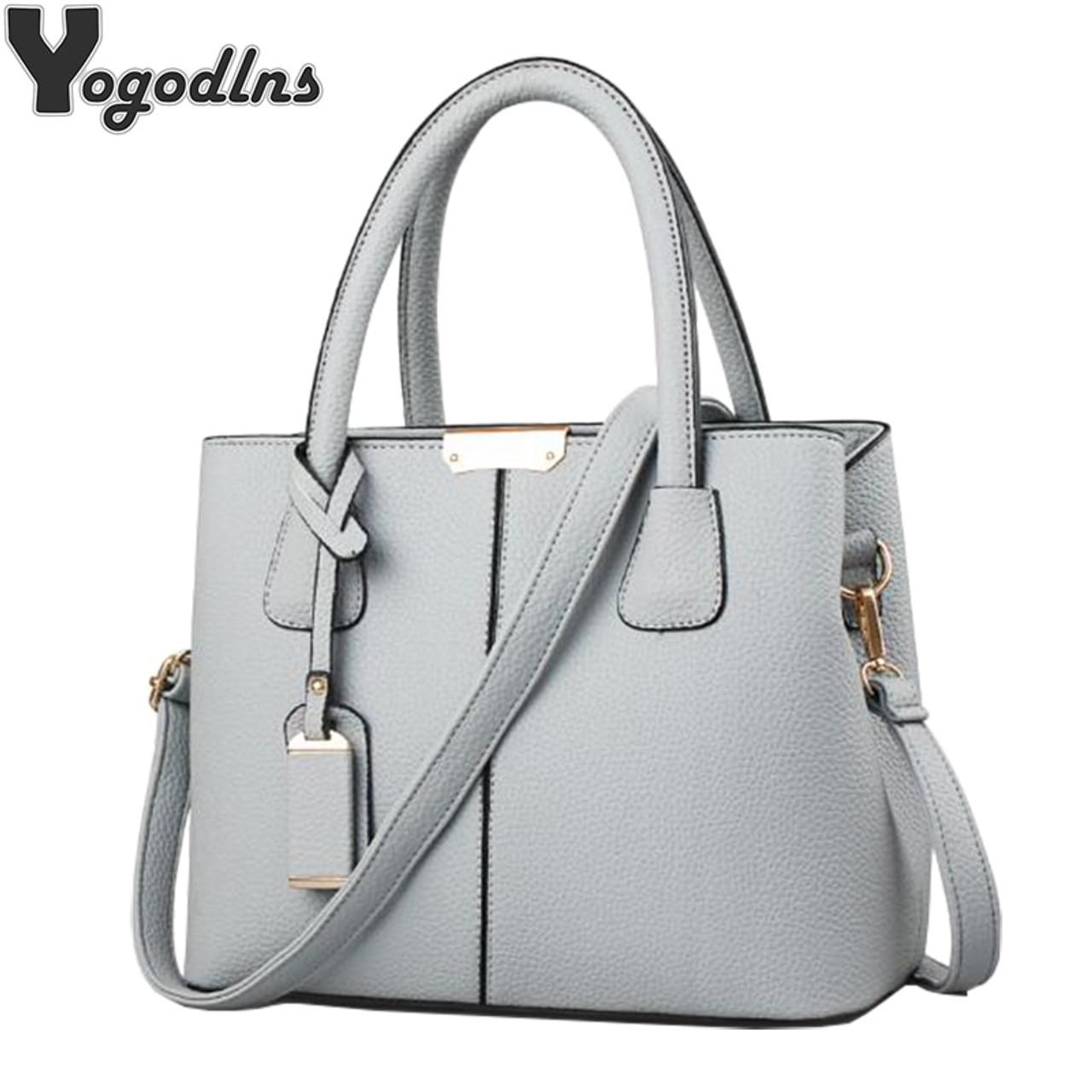 2a33077b11 Women PU Leather Handbags Ladies Large Tote Bag Female Square Shoulder Bags  Bolsas Femininas Sac New ...