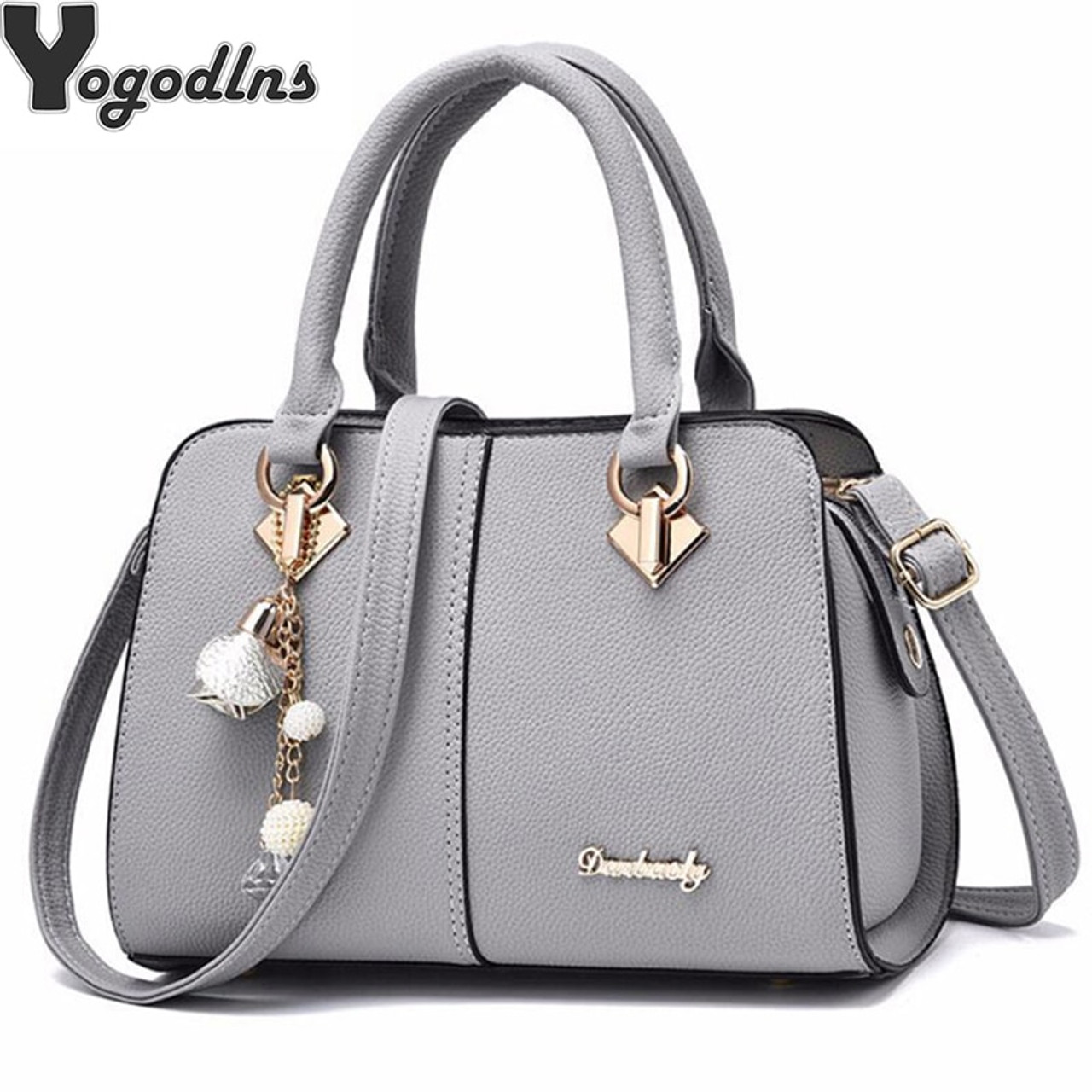 9dc013e837 NEW brand women hardware ornaments solid totes handbag high quality lady  party purse casual crossbody messenger ...