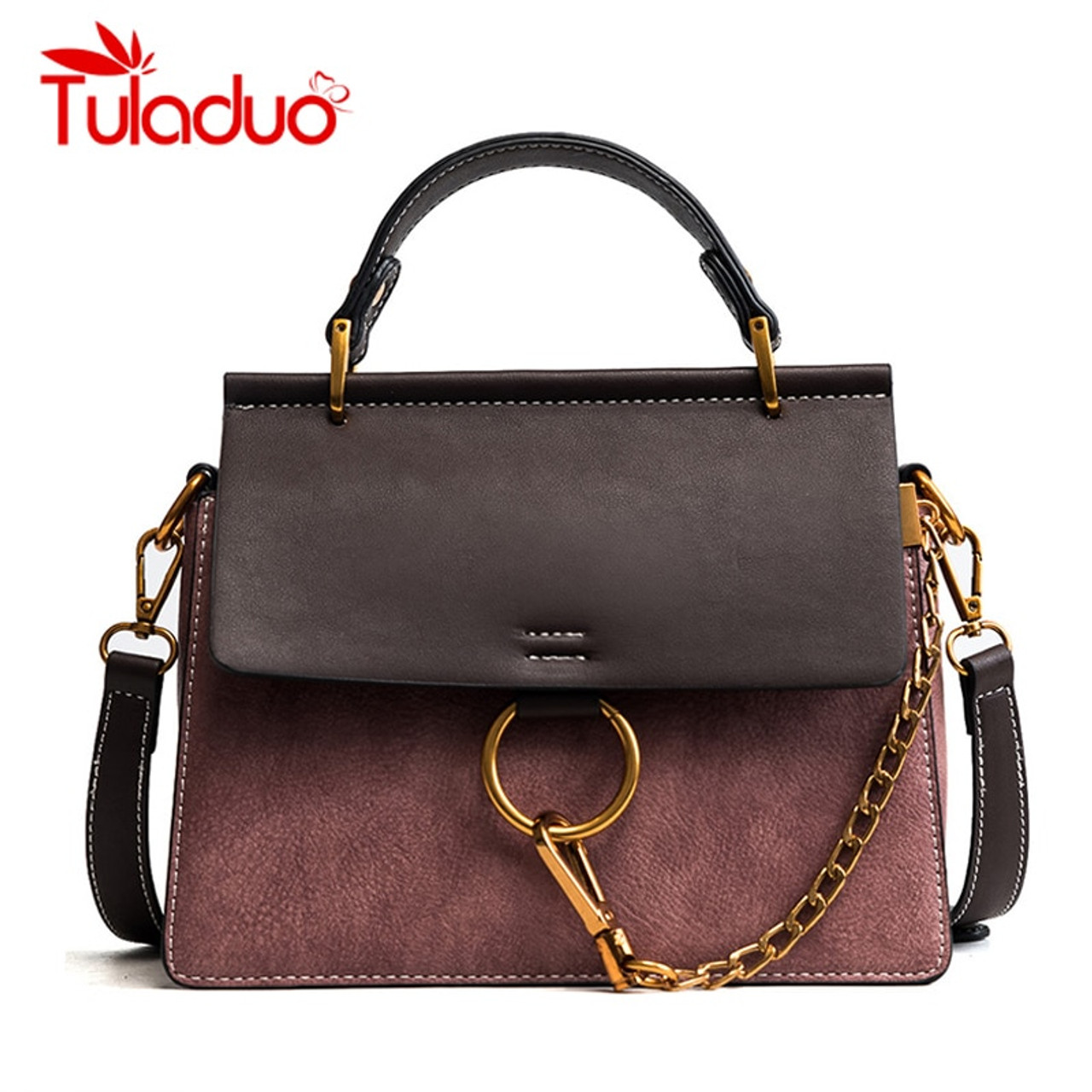 bc93c44d0e Tuladuo Women Messenger Bags New Luxury Brand Ladies Shoulder Bags High  Quality Designer Chain Handbags Flap Crossbody Bags