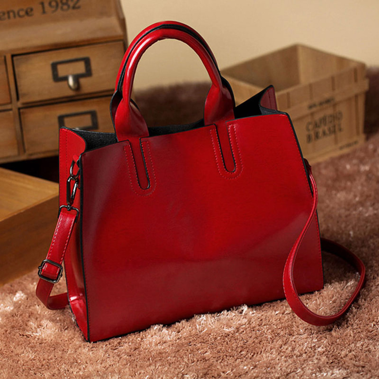23b5096283 ... Leather Bags Handbags Women Famous Brands Big Casual Women Bags Trunk  Tote Spanish Brand Shoulder Bag ...