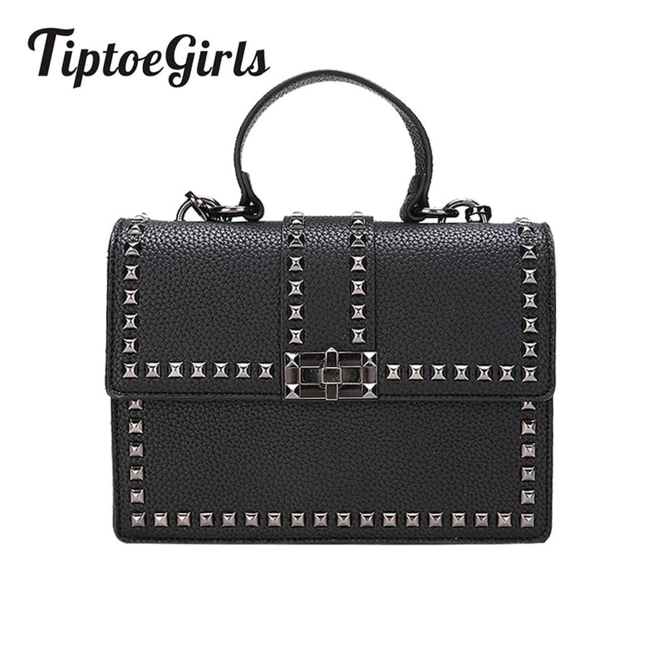 2018 Brand Women Bags Luxury Handbags Women Messenger Bags Cover Rivet Bag  Girls Fashion Shoulder Bag Ladies PU Leather Handbags - OnshopDeals.Com bda4d631da13d
