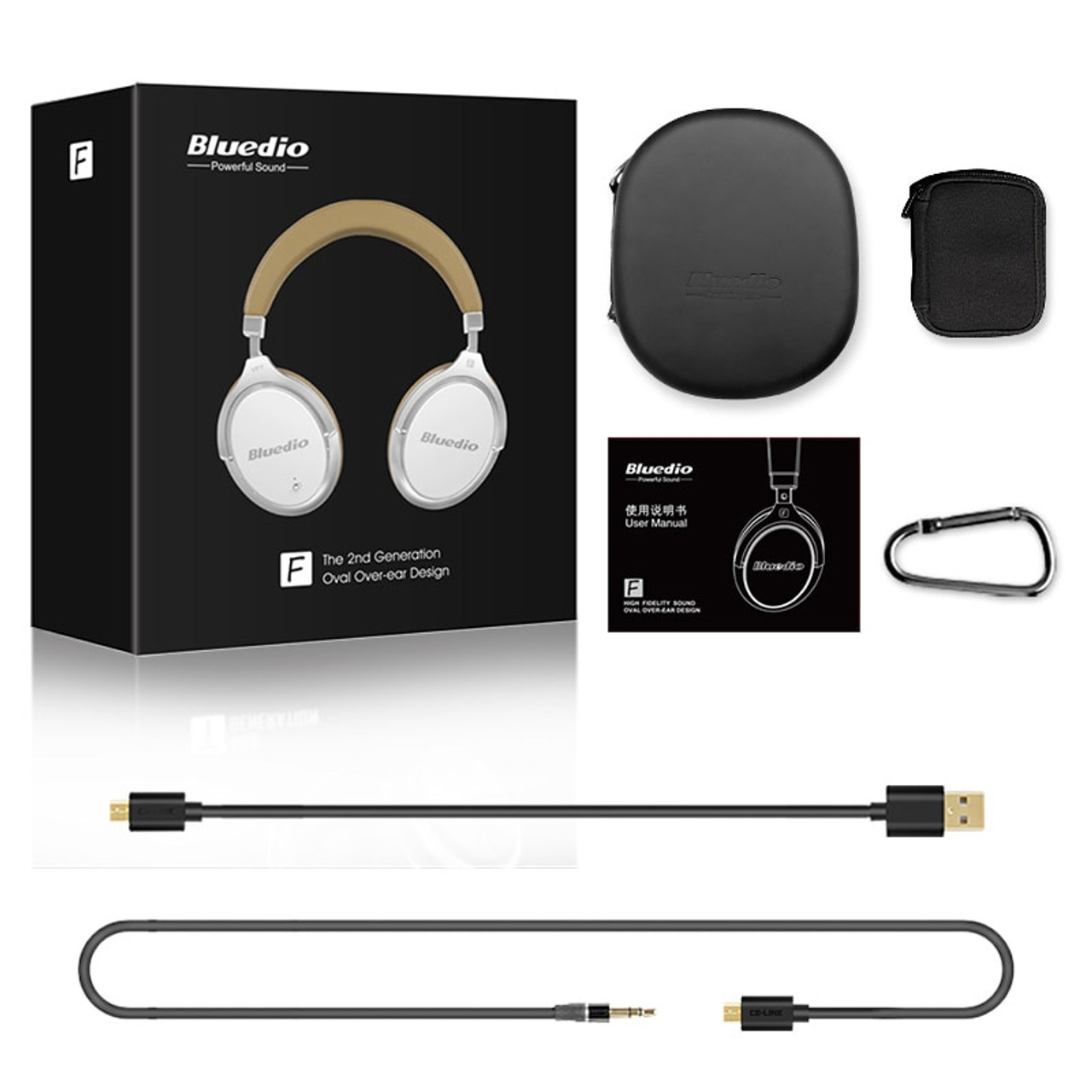 7c01a88635b ... Bluedio F2 headset with ANC Wireless Bluetooth Headphones with  microphone support music ...
