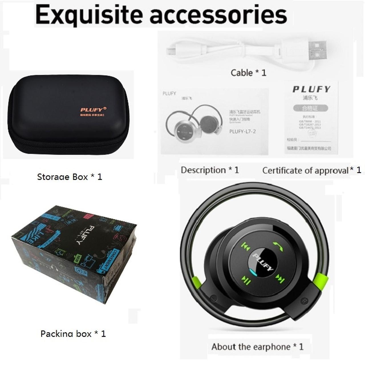 7e3e4fb289f ... PLUFY Sports Bluetooth Headset Wireless Headphones Earphones Running  Ecouteur Sans Fil Bluetooth Headphone earphone Radio MP3 ...