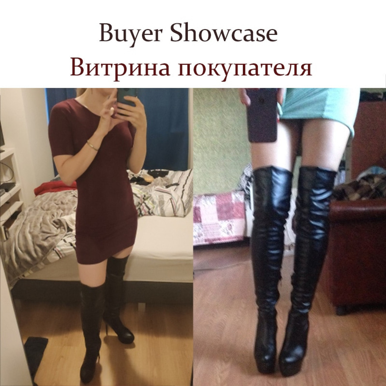 29b2ef223d9 ... BONJOMARISA Plus Size 32-46 Fashion Over Knee Thigh High Boots Women  Winter Spring Sexy ...