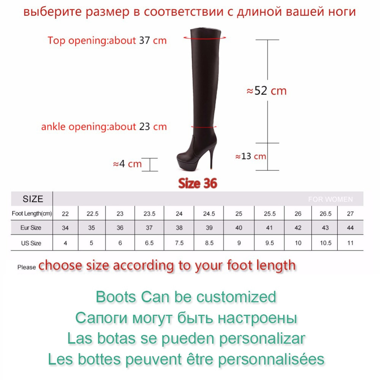 ba54508e2f7 ... BONJOMARISA Plus Size 32-46 Fashion Over Knee Thigh High Boots Women  Winter Spring Sexy ...