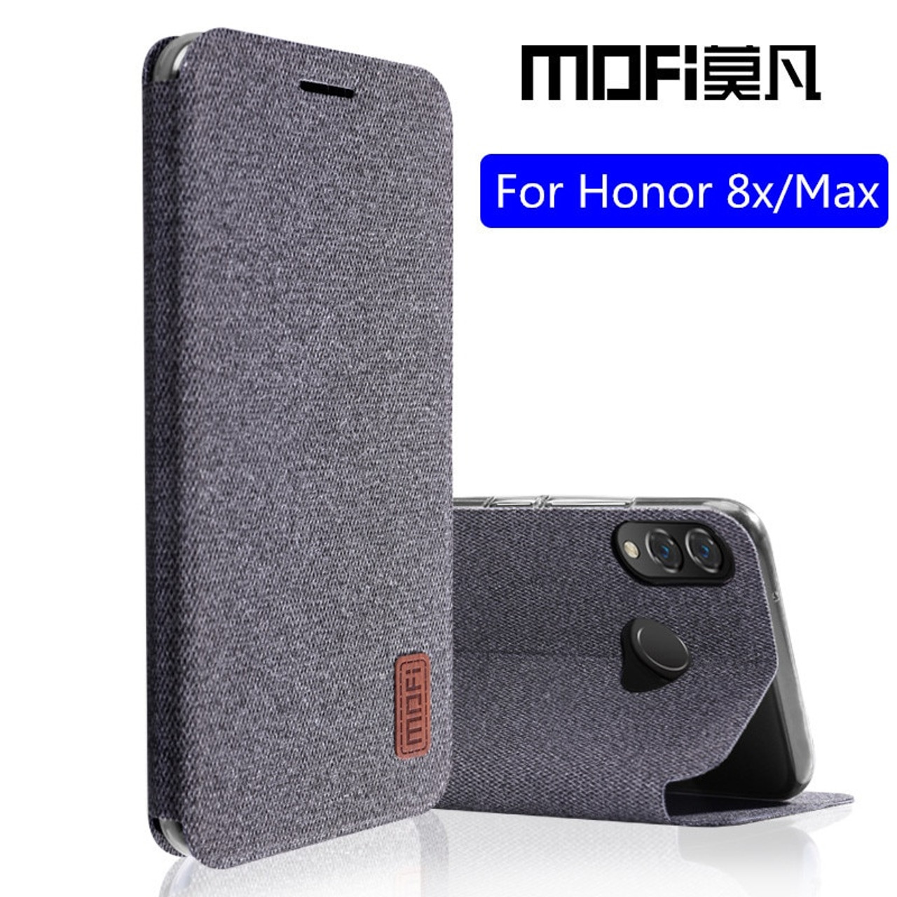 new style 3790c f6446 Huawei honor 8x max case honor8x flip cover silicone back coque shockproof  phone case fundas MOFi original honor 8x case
