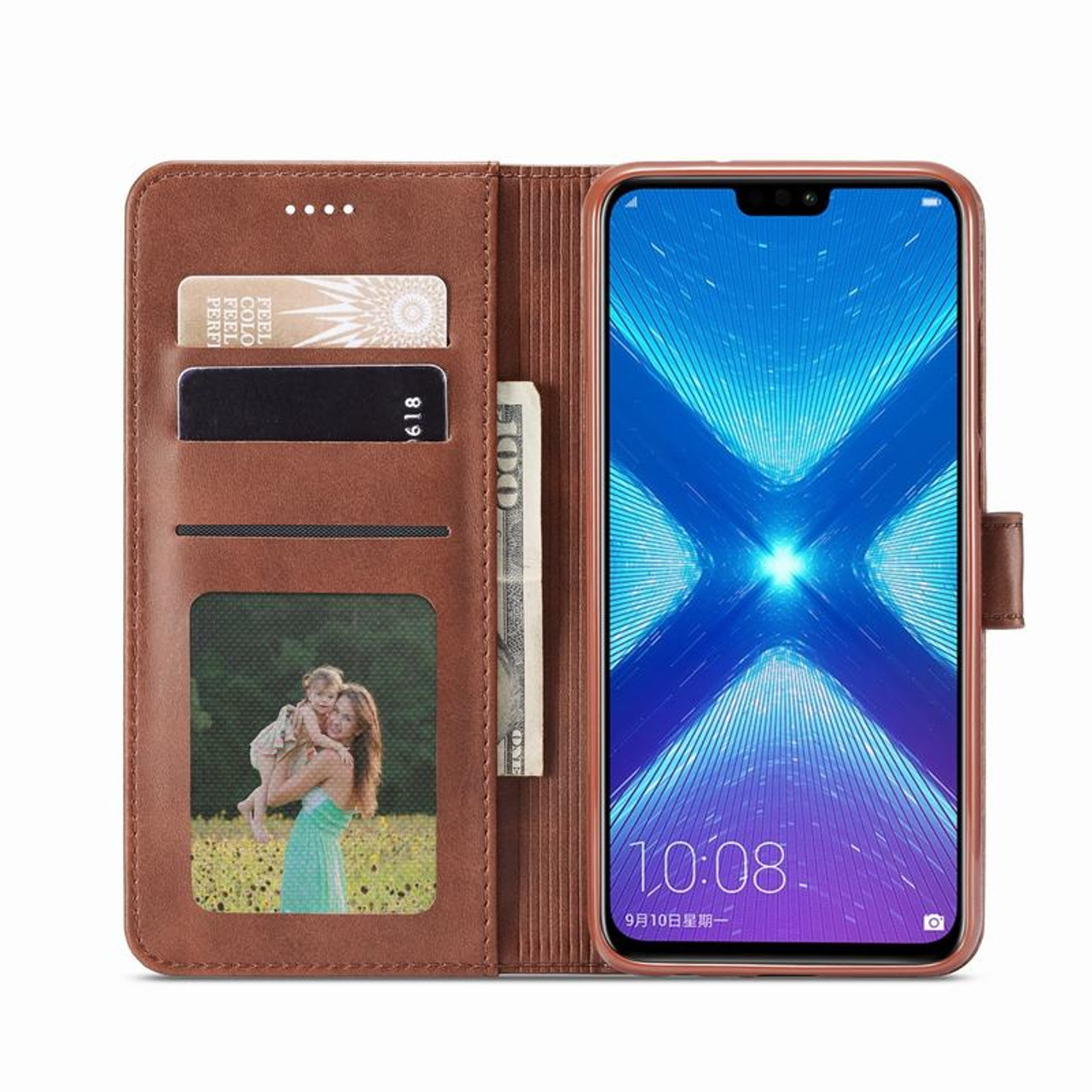 Luxury Leather Flip Cases For Huawei Honor 8X Case Flip Magnet Wallet Cover  Coque For Huawei Honor 8X Case Cover Honor 8 X Funda