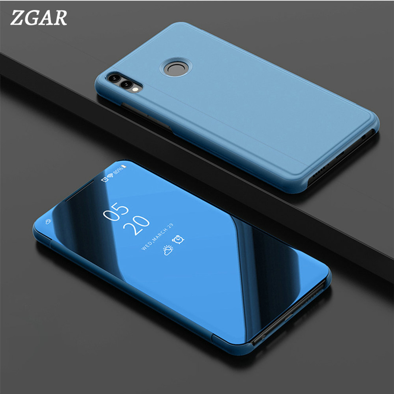 Mirror Case for Huawei Honor 8X Max Honor8X Max Transparent Clear Smart  Covers ZGAR Phone Bags Cases for Huawei Honor 8X Max