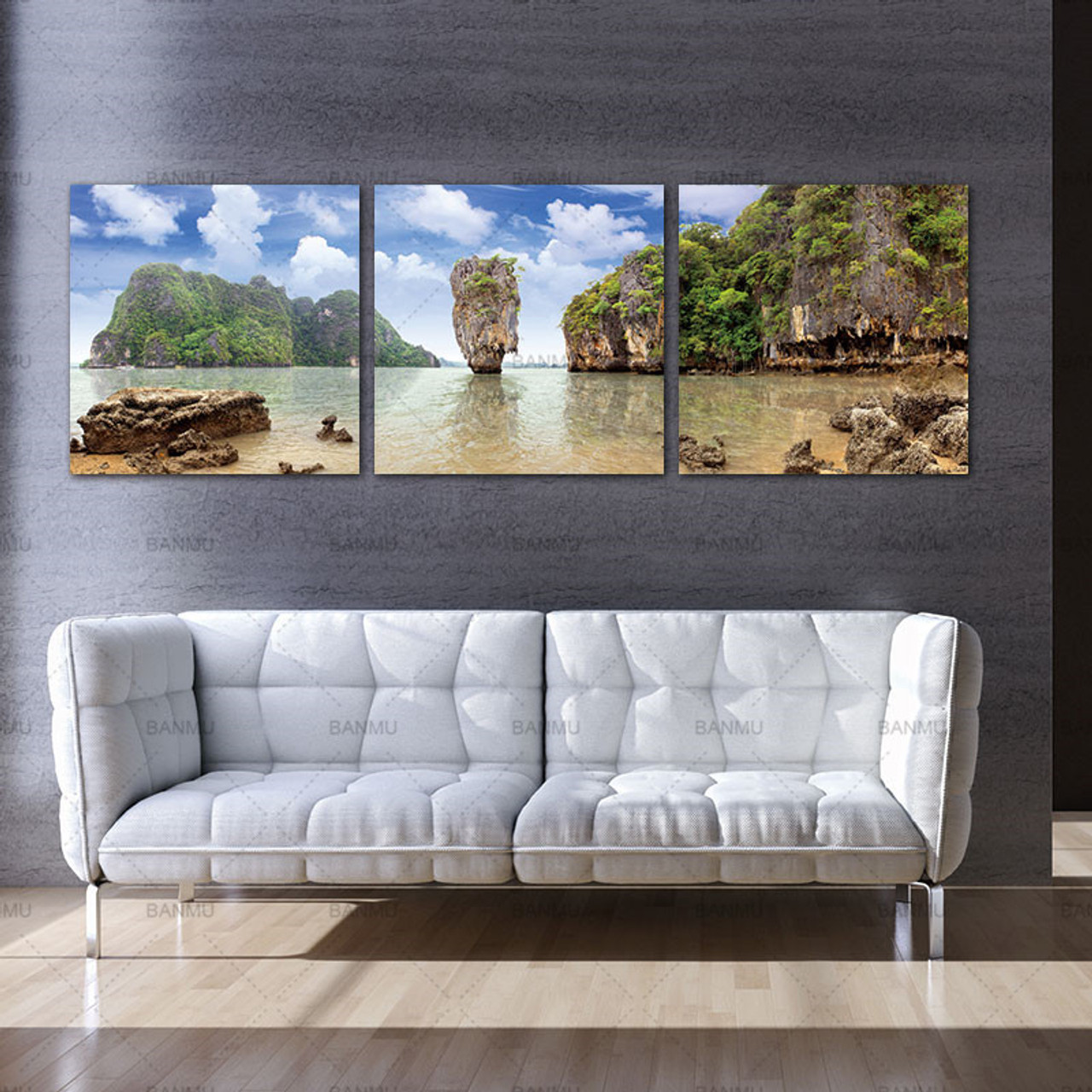 Picture Landscape Wall Art Modular Painting Print Retro Waterfall Definition Pictures Canvas Prints Home Decoration Living Room Onshopdeals Com