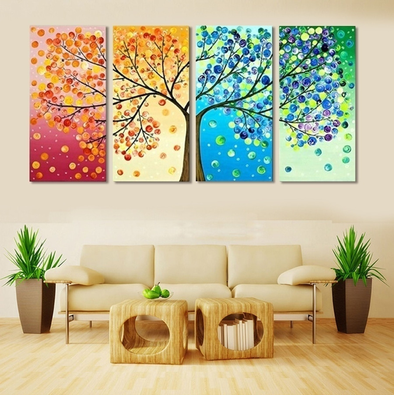 Picture Wall Art Canvas Painting Tree Decoration For Living Room