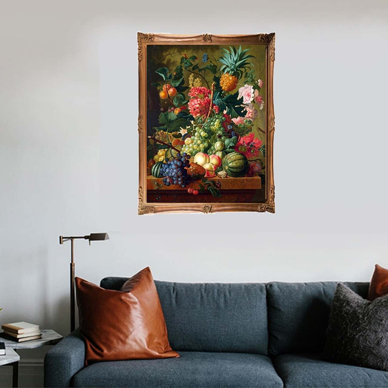 Framed//Unframed Flowers Tree DIY Paint By Number Kit On Canvas Home Wall Decor