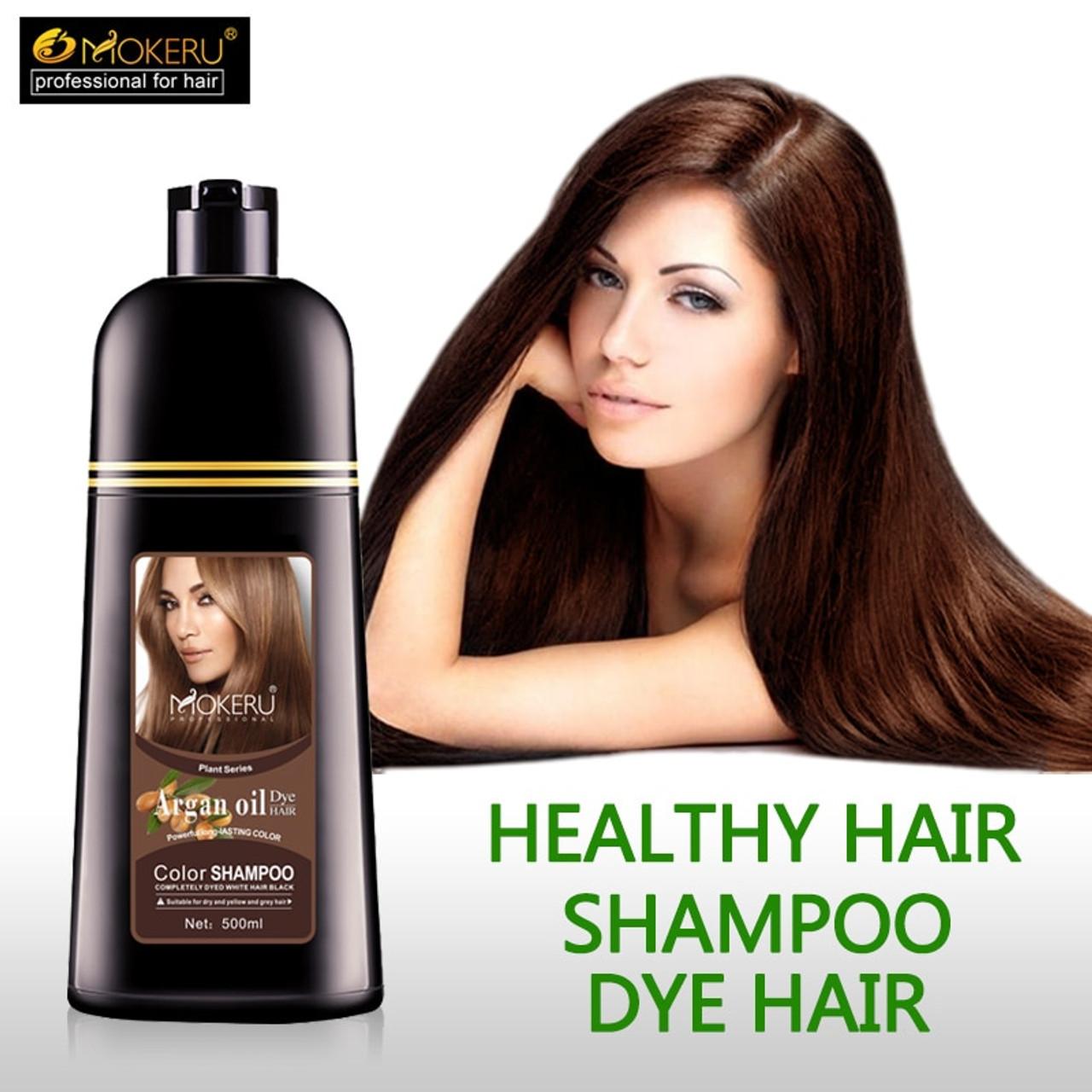 1pc 500ml Mokeru organic hair dying good effect long lasting argan ...