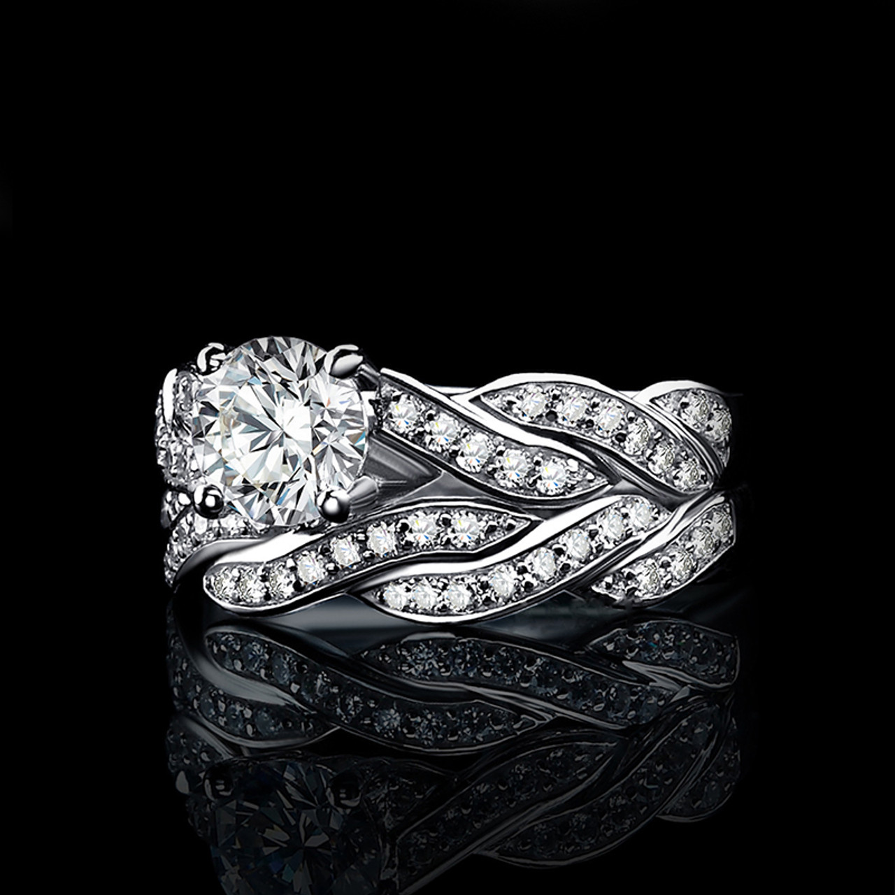 f0b96464e ... JewelryPalace Infinity 1.5ct Cubic Zirconia Anniversary Promise Wedding  Band Engagement Ring Bridal Sets 100 925 ...