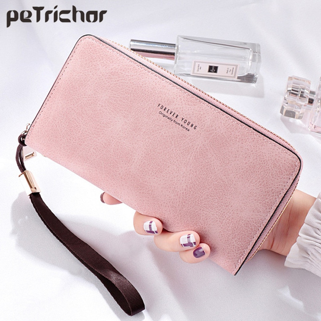 2055999d19d4d2 Brand Designer Wristband Wallets Women Many Departments Clutch Wallet  Female Long Large Card Purse Ladies Handbag ...