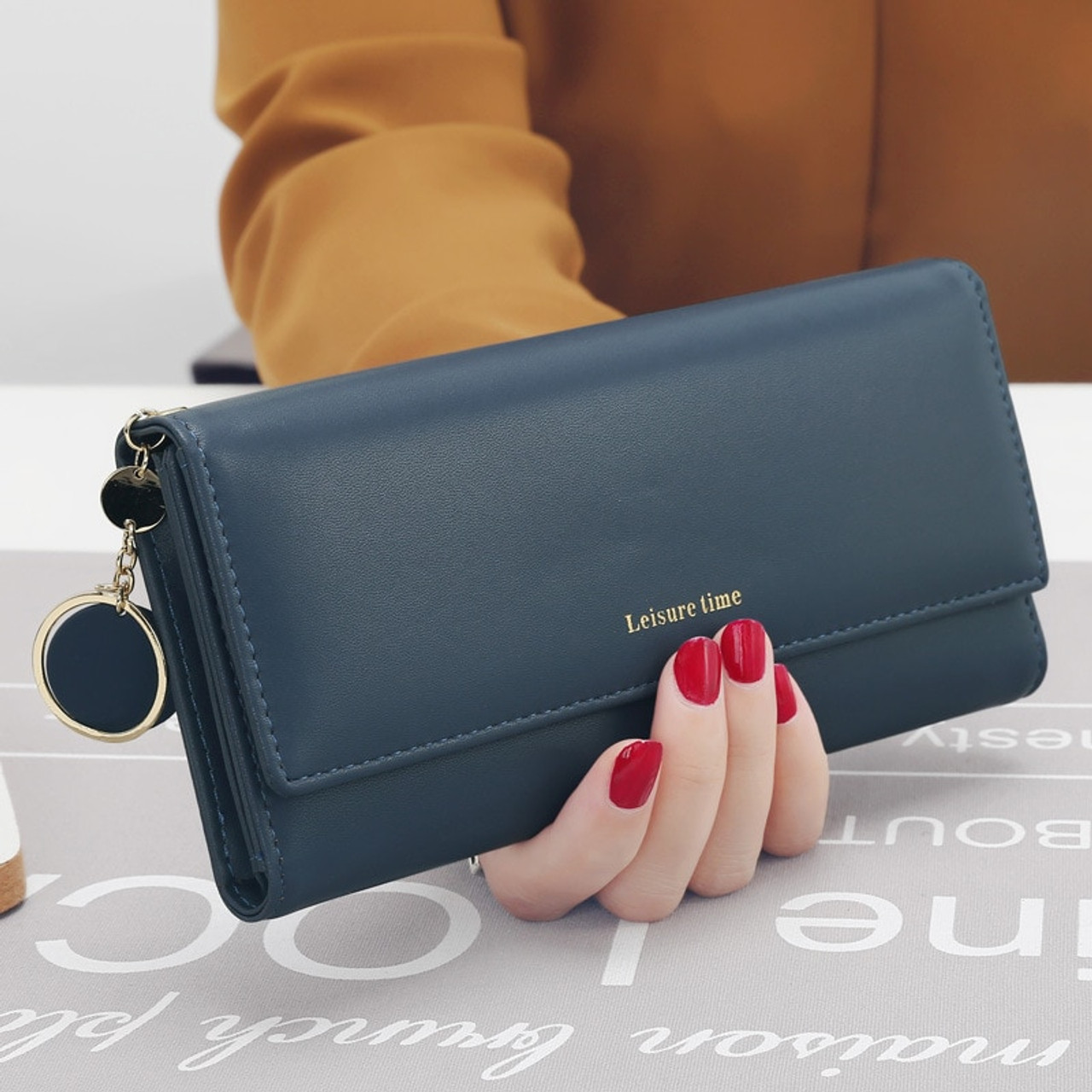748552f6495bde ... Luxury Brand Wallets Women Leather Wallets Female Long Coin Purses  Ladies Money Credit Card Holders Large ...