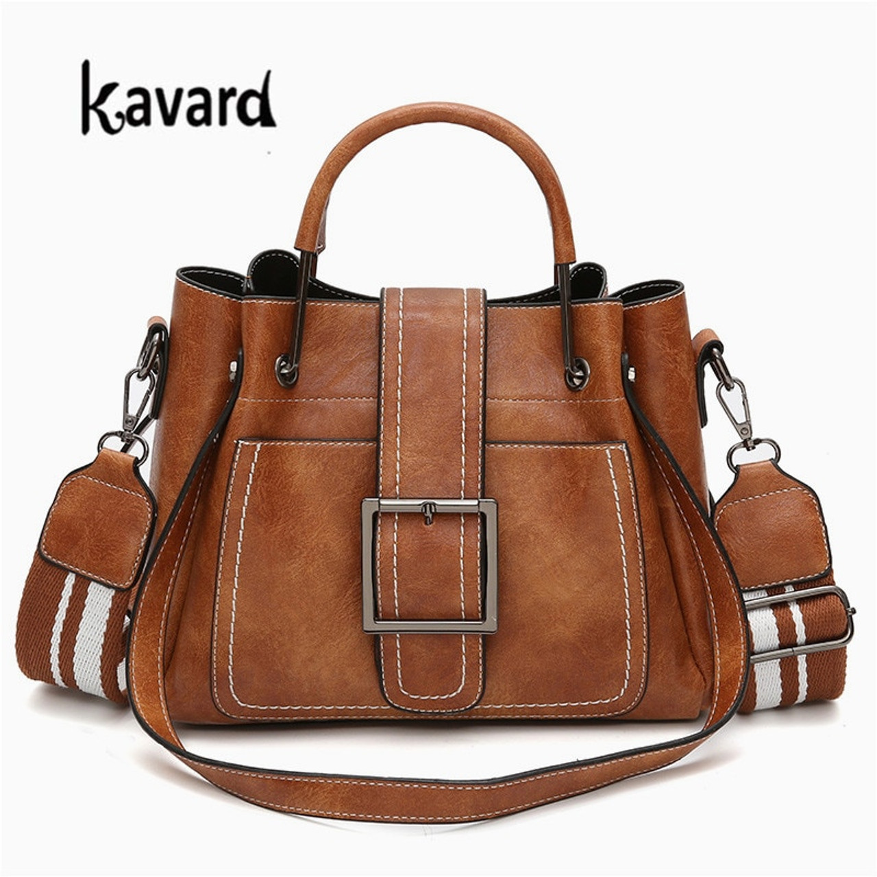 4403e334d0d Kavard Brand Women Messenger Bags Vintage Belts Shoulder Bags Sequined  Women Handbags Designer PU Leather Ladies Hand Bags Sac