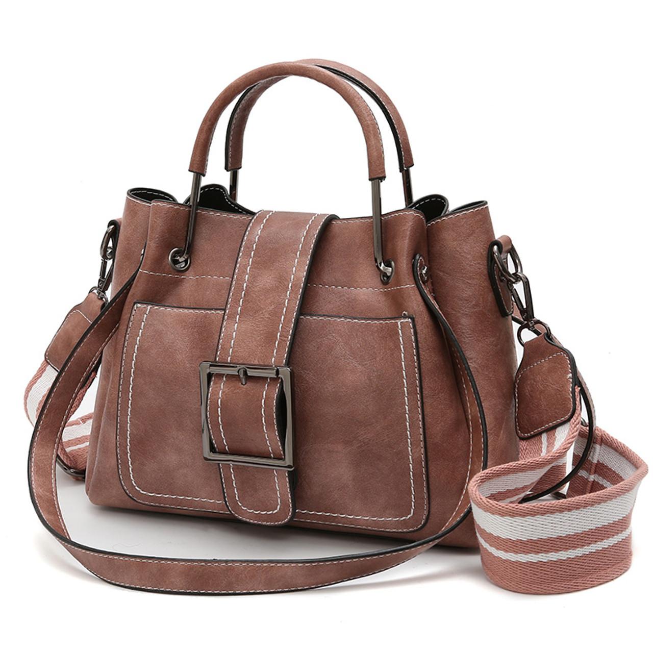 Yogodlns 3pcs Set Oil Wax Leather Women Handbags High Quality Casual Female Bags