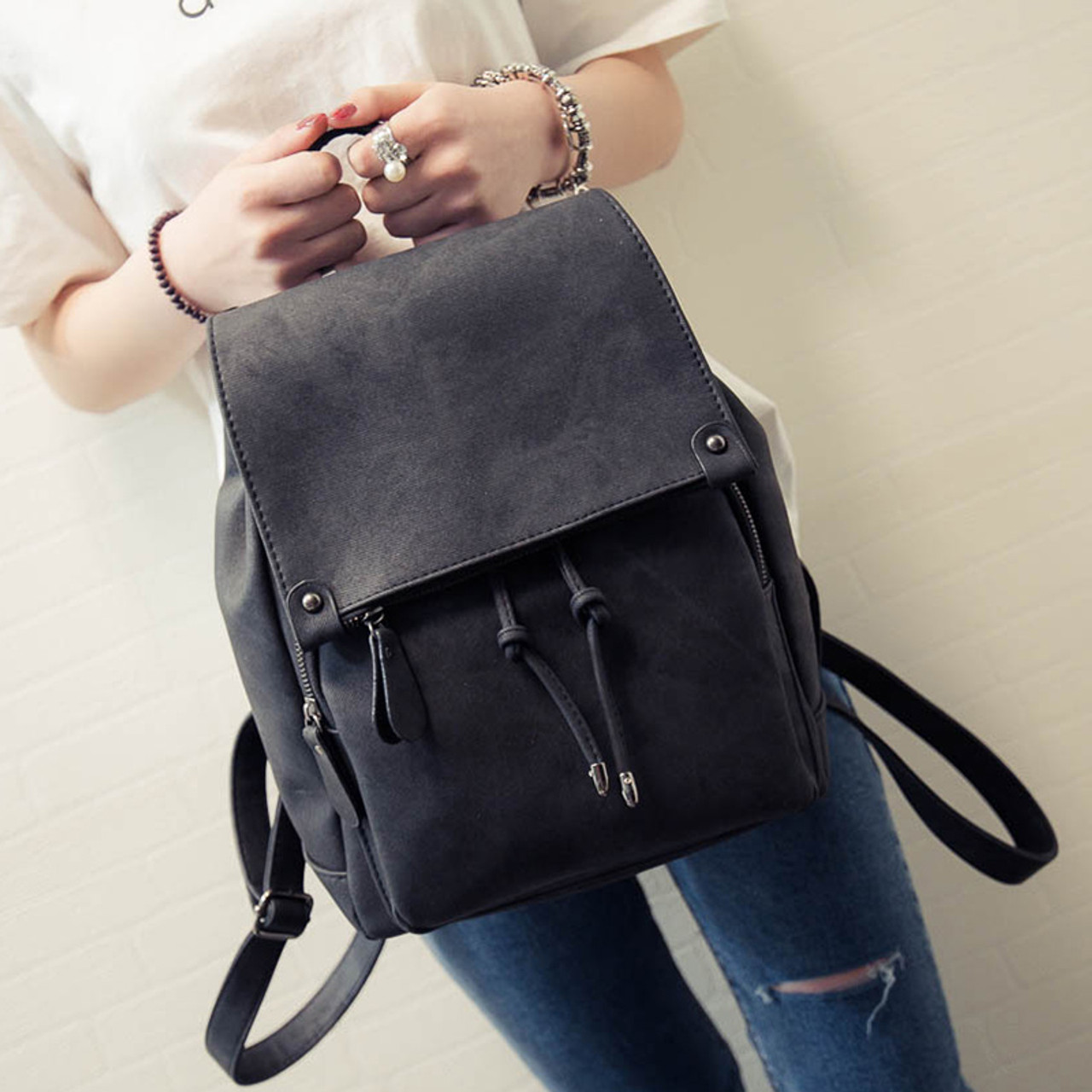 2018 New Arrival Summer Women Backpacks Canvas College Bags For