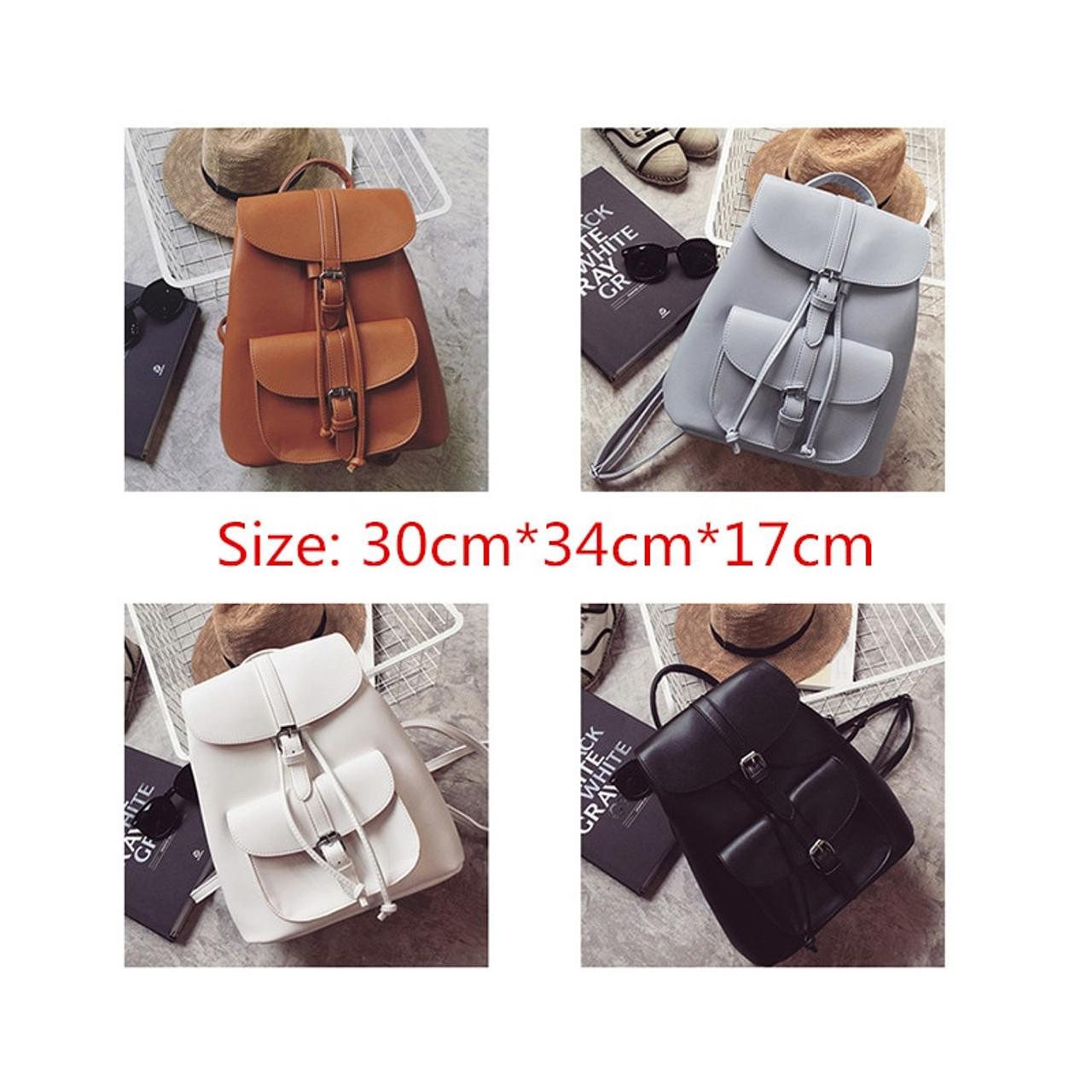 400b245d2b ... Miyahouse Trendy Female Drawstring PU Leather Backpacks Teenage Girls  Small School Bags Women High Quality Casual ...