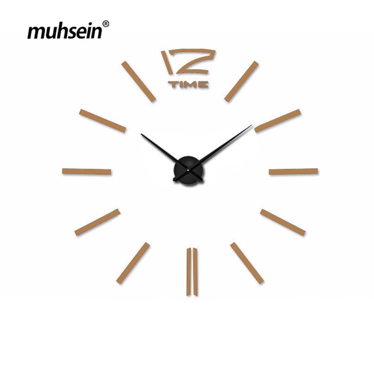 muhsein 2018 new arrivals wall clocks creative modern wall stickers