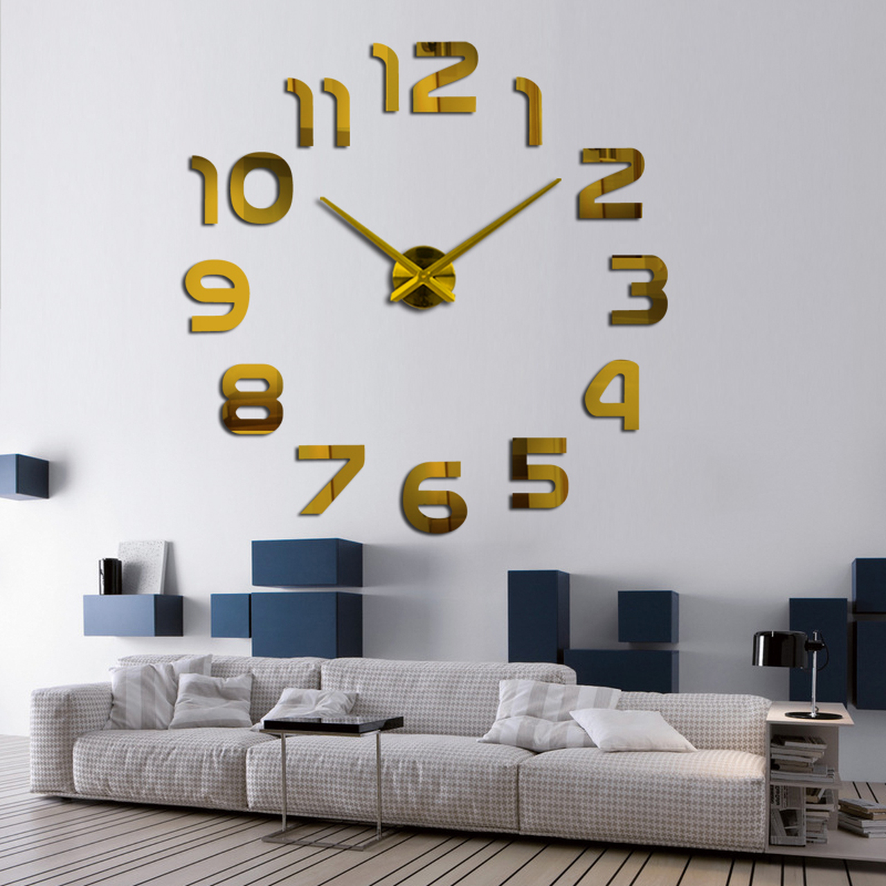 1ac70d56d ... Diy 3d Acrylic Wall Clock Clocks Watch Horloge Murale Modern Circular  Needle Mirror Large Home Decoration ...