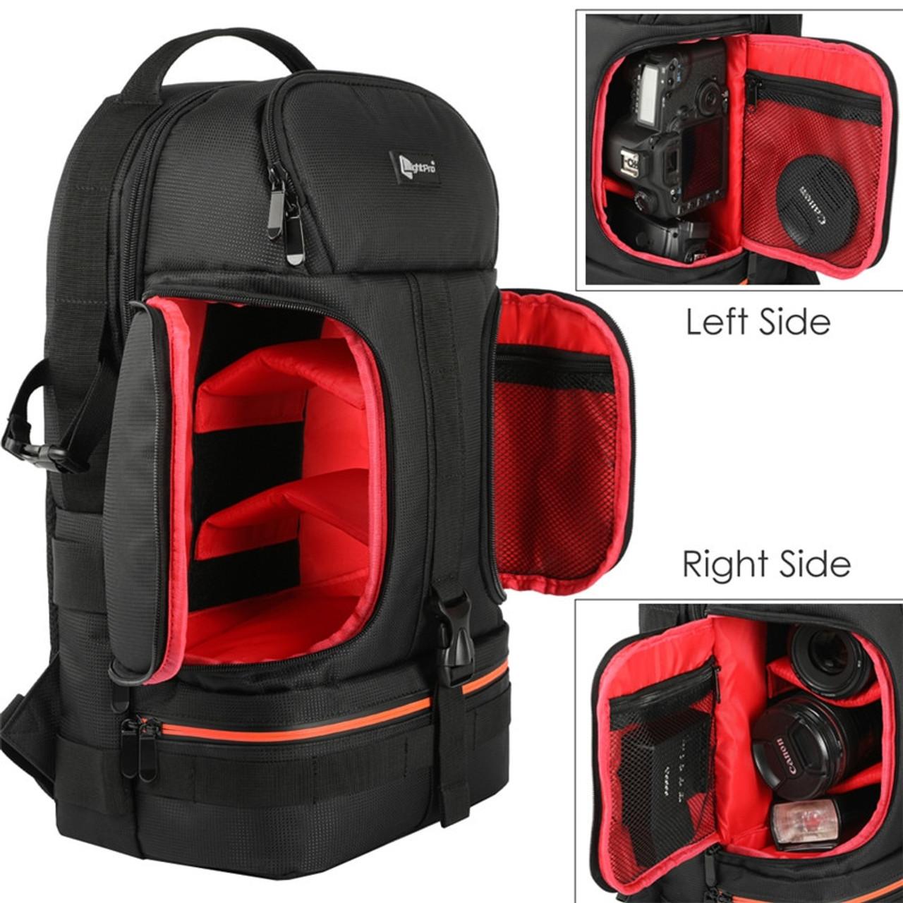 ... DSLR Waterproof Shockproof Shoulders Camera Backpack Tripod Case w   Reflector Stripe fit 15.6 in Laptop ... c71c2b0fe8ec8