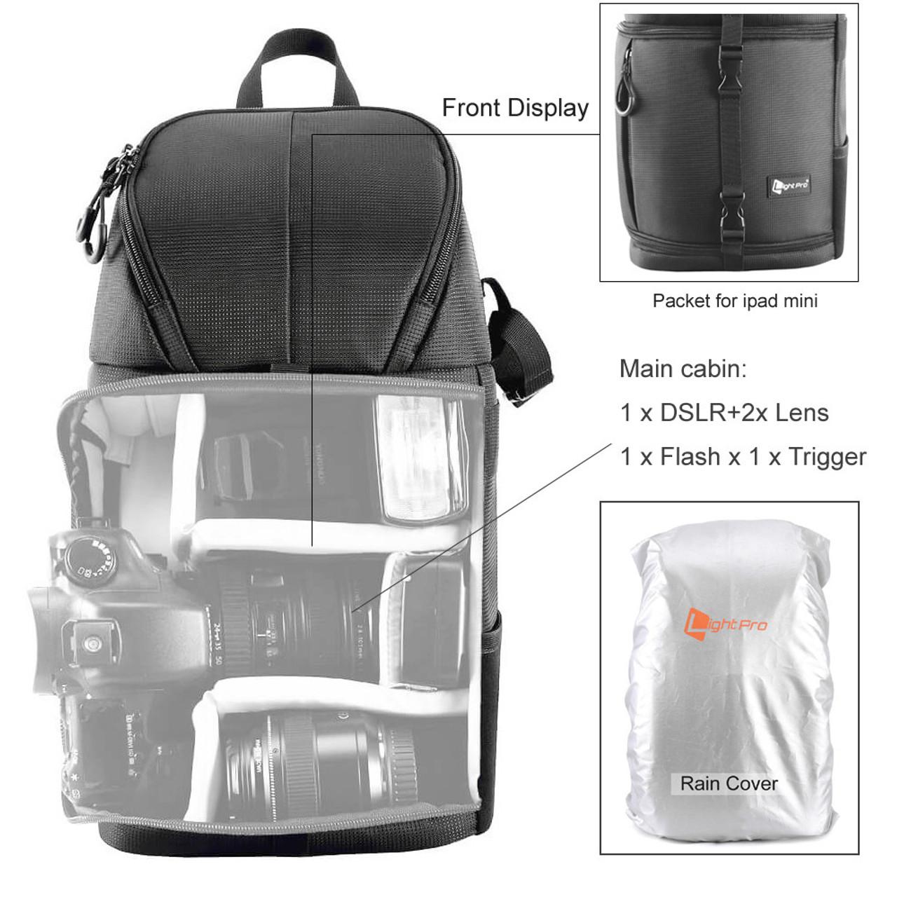 91cddbc6f41 ... Camera Sling Bag Shoulder Cross DSLR Case Waterproof w  Rain Cover  Camera Sling Soft Padded ...