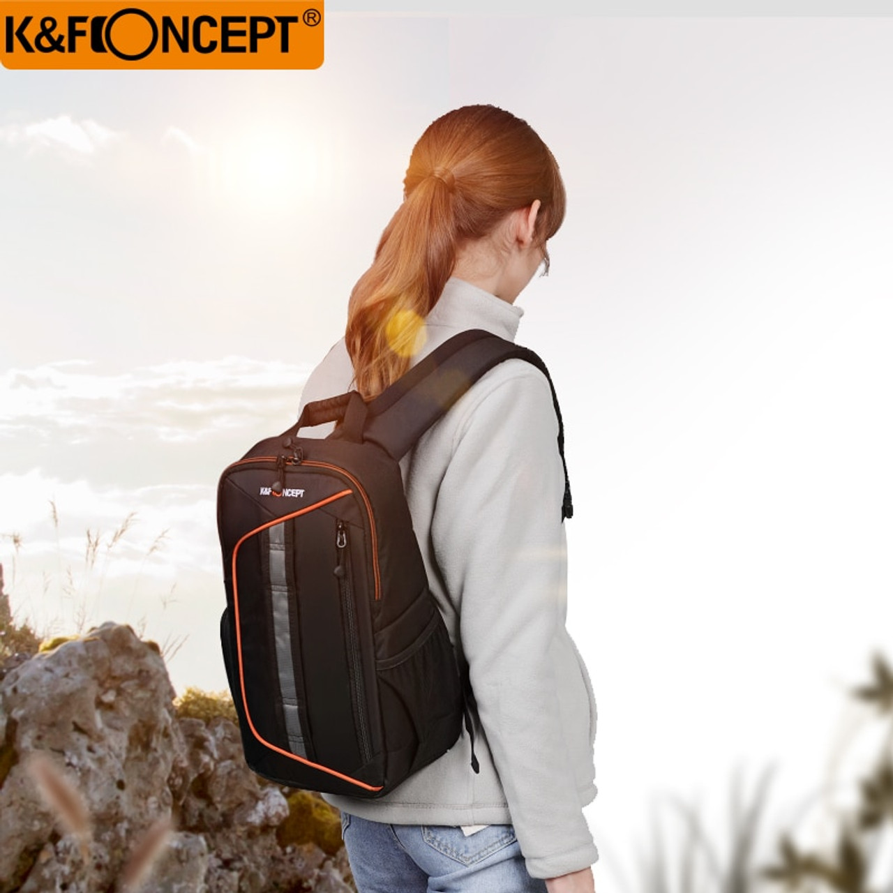 3506f9aa7f K amp F CONCEPT Waterproof Camera Backpack New Style Sling Messenger Travel  Bag Big Capacity Hold ...