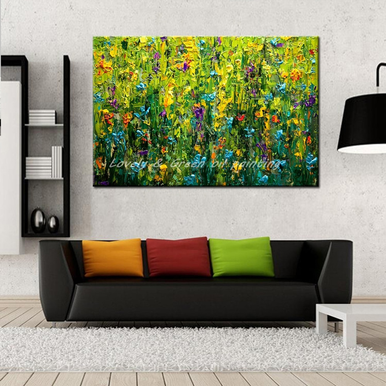 Hand Painted Canvas Paintings For Bedroom Decoration Pictures On The Wall Modern Abstract Oil Painting Unframed Canvas Art Wall Onshopdeals Com