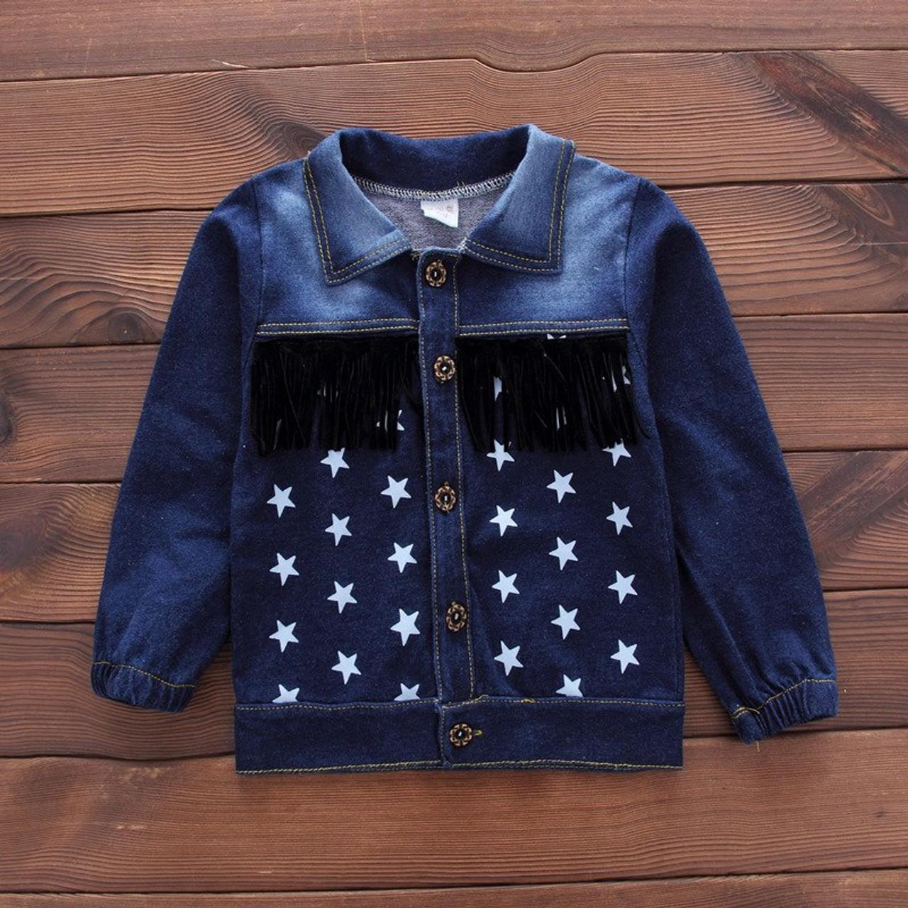 25707bf7d Newborn Denim single breasted 3Pcs set (coat+t shirt +jeans) bebes ...
