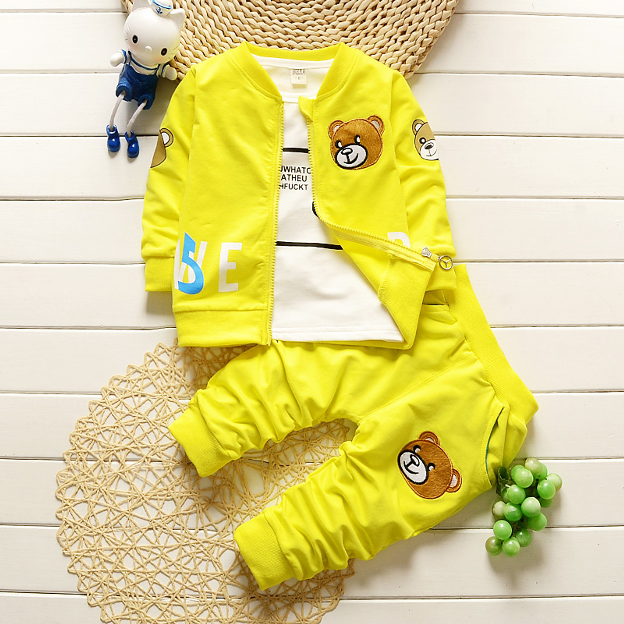 860bc2162 BibiCola baby boys clothing sets newborn boy coat + shirt +pants ...