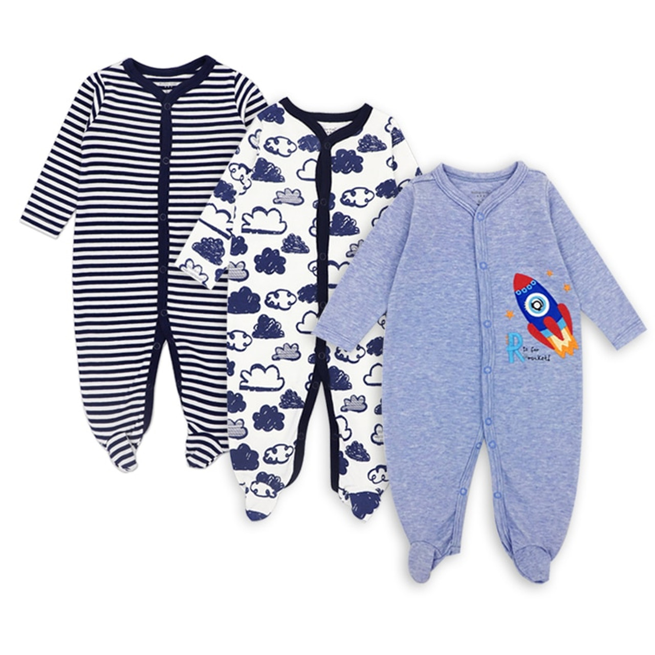 7e442349a Baby rompers Newborn Baby Girls Boys Clothes 100% Cotton Long ...