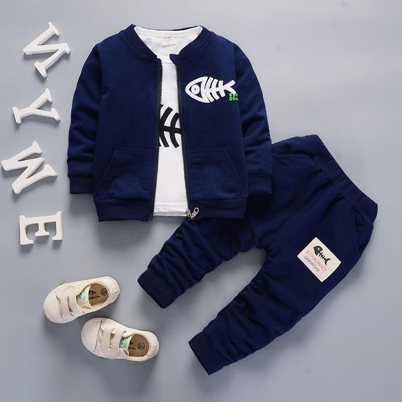 9269d6d37 Bibicola baby boys clothing set toddler bebe coat jacket+ T shirt+pants 3  pcs newborn sport suit infant boys clothes set - OnshopDeals.Com